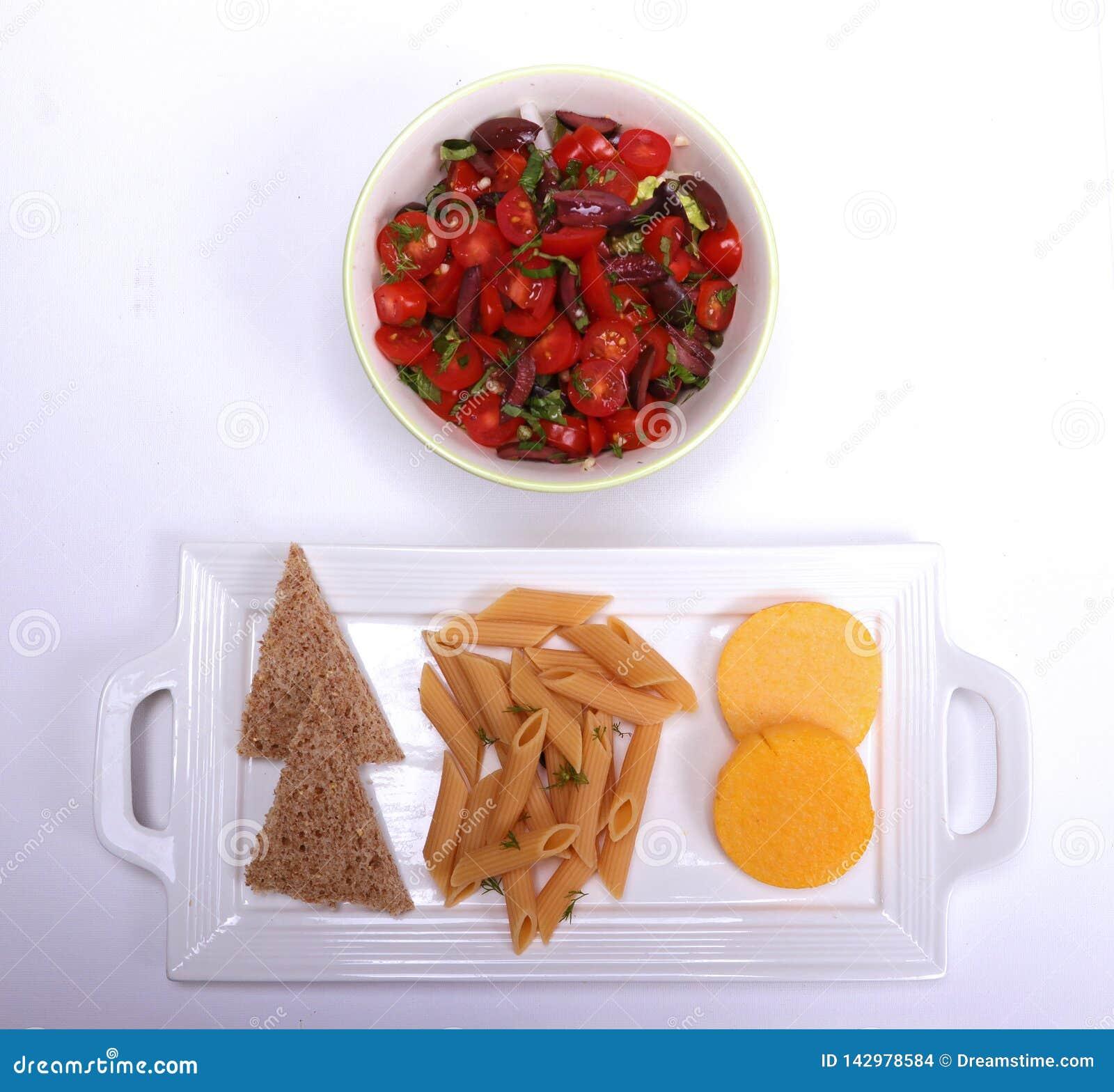 Plan des strengen Vegetariers der gesunden Ernährung