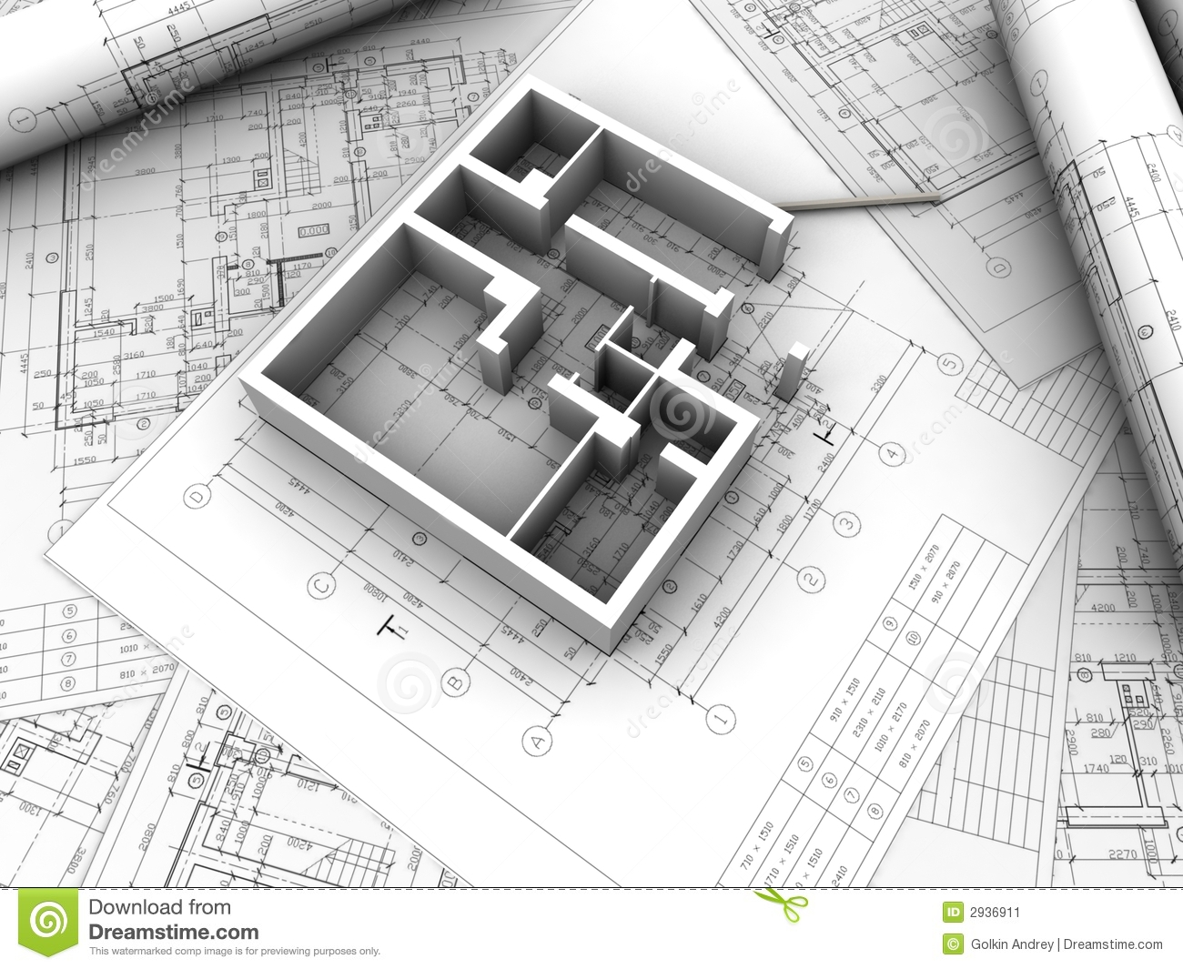 Plan drawing stock illustration illustration of engineer for What type of engineer designs buildings