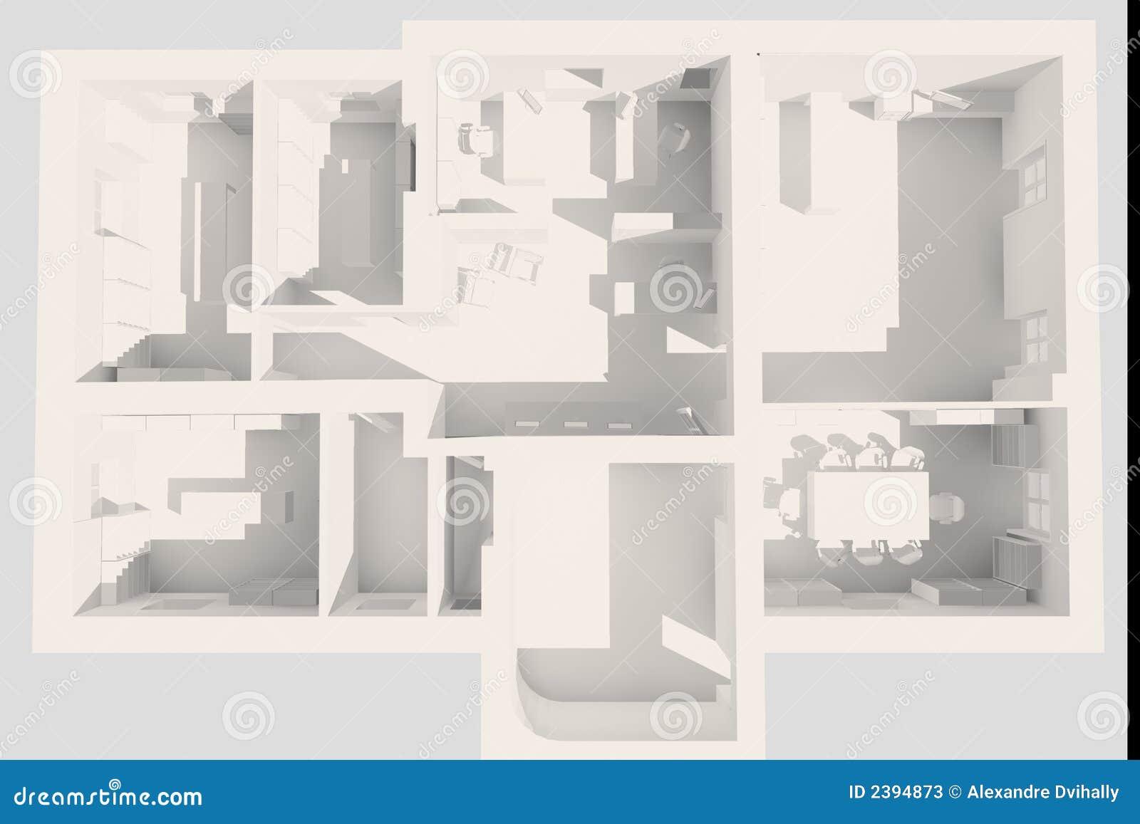 plan du bureau 3d photos stock image 2394873. Black Bedroom Furniture Sets. Home Design Ideas