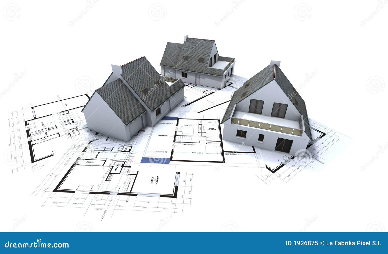 Plan för 2 arkitekthus