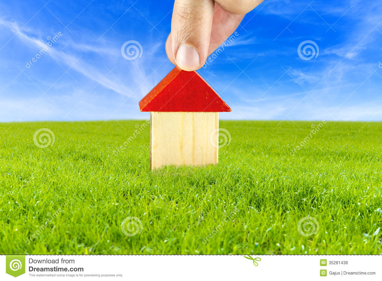 plan of a house in safe and clean environment stock photo