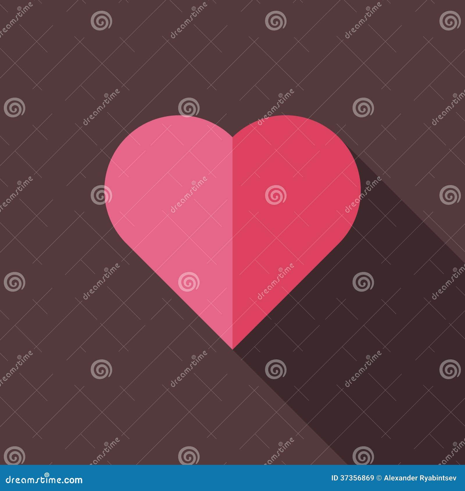 Plan illustration av hjärta