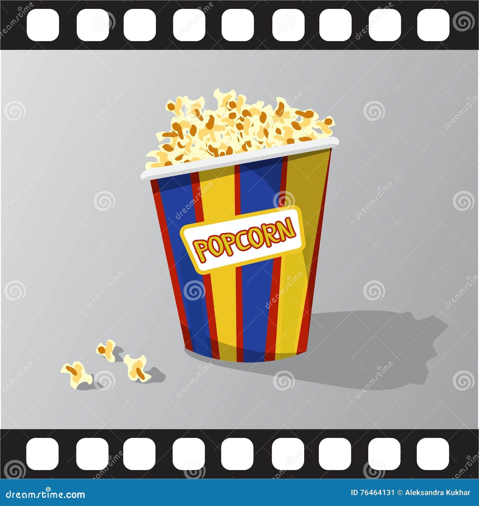 Plan illustration av popcorn