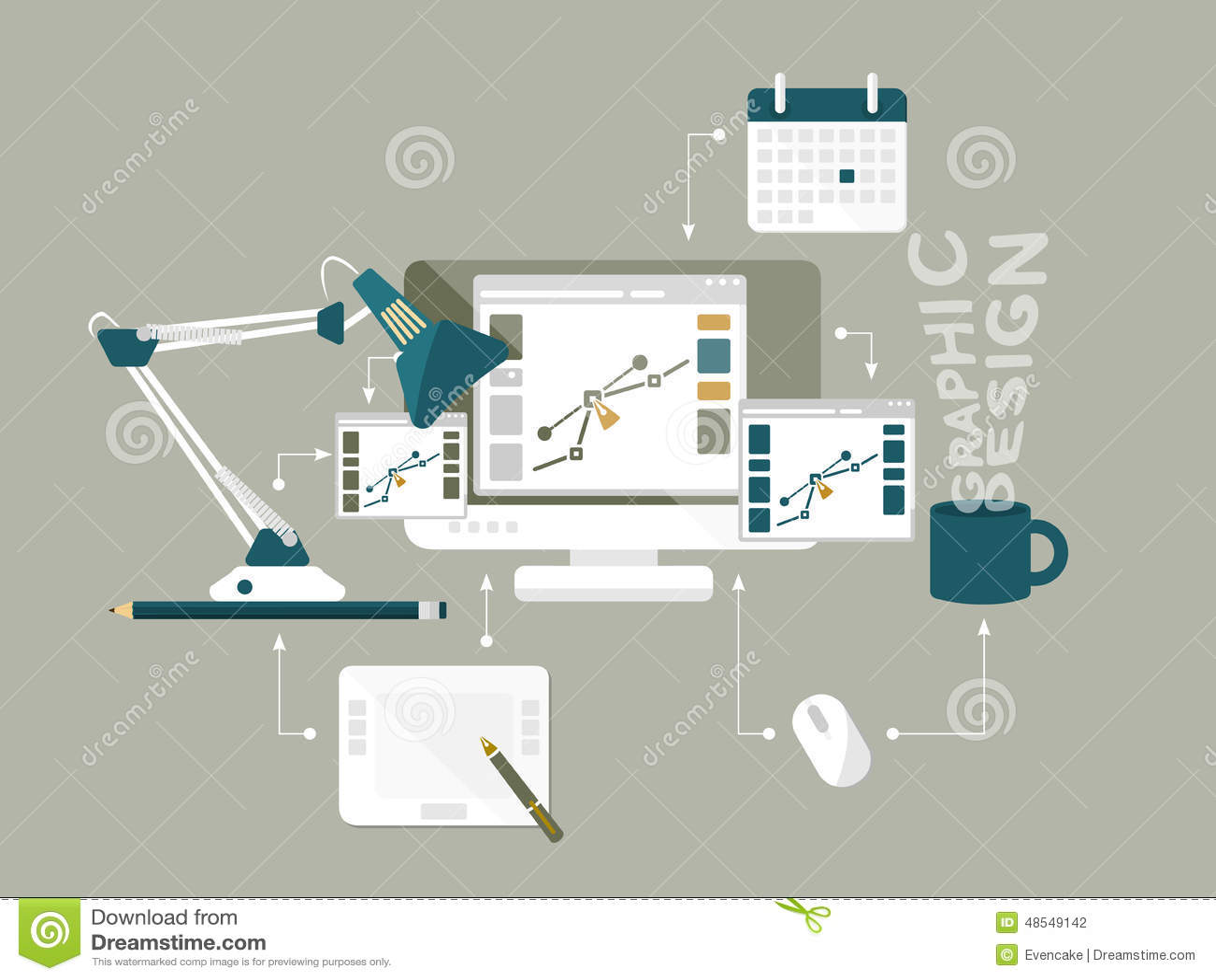 Plan illustration för vektor för grafisk design för symboler