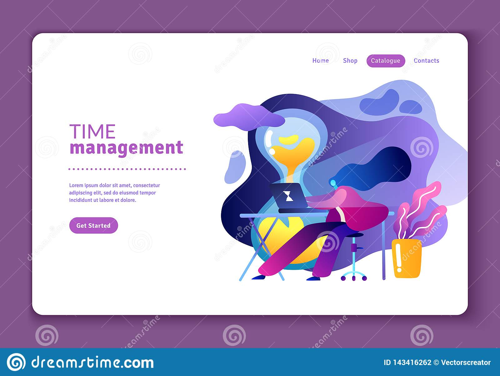 Plan illustration om ledning för effektiv tid
