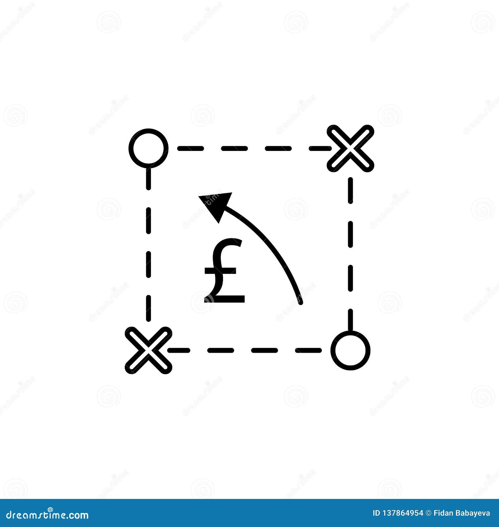 Plan intrig, pund, pilsymbol Beståndsdel av finansillustrationen Tecknet och symbolsymbolen kan användas för rengöringsduken, log