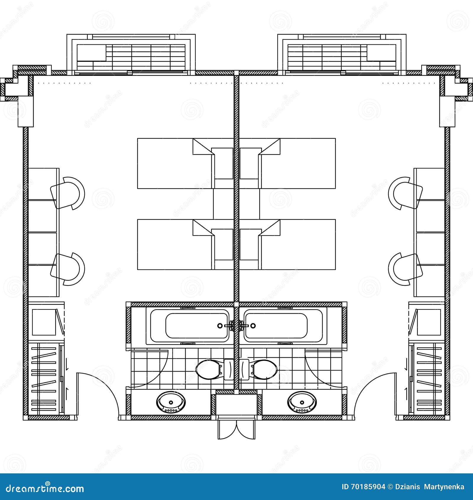 Plan konstruktionsplanvektor