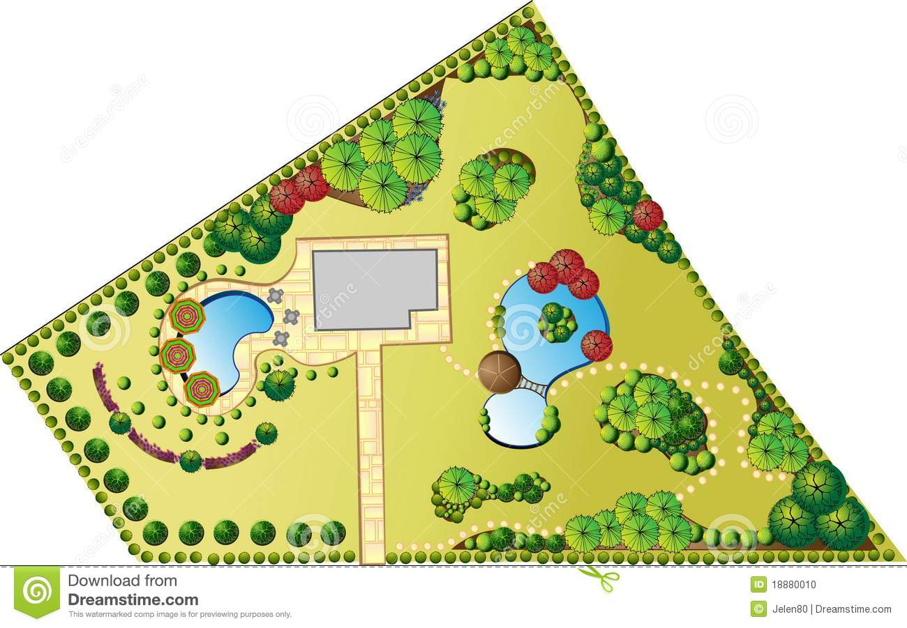Plan of landscape and garden stock photo image 18880010 for Outdoor landscape plans