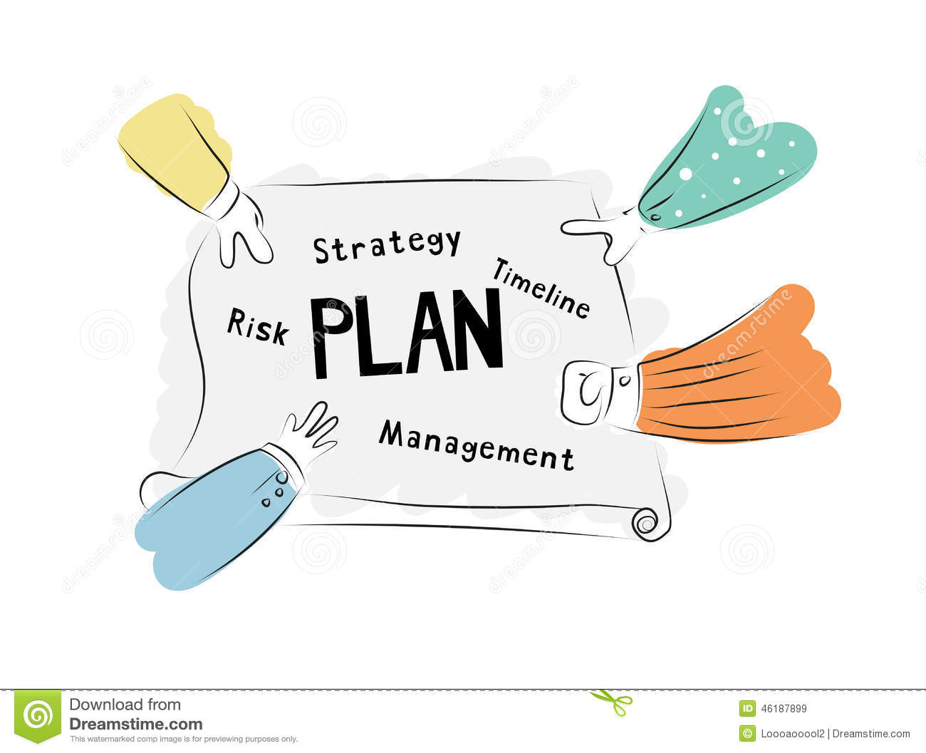 Plan And Meeting Business Concept  Brainstorming Stock Vector