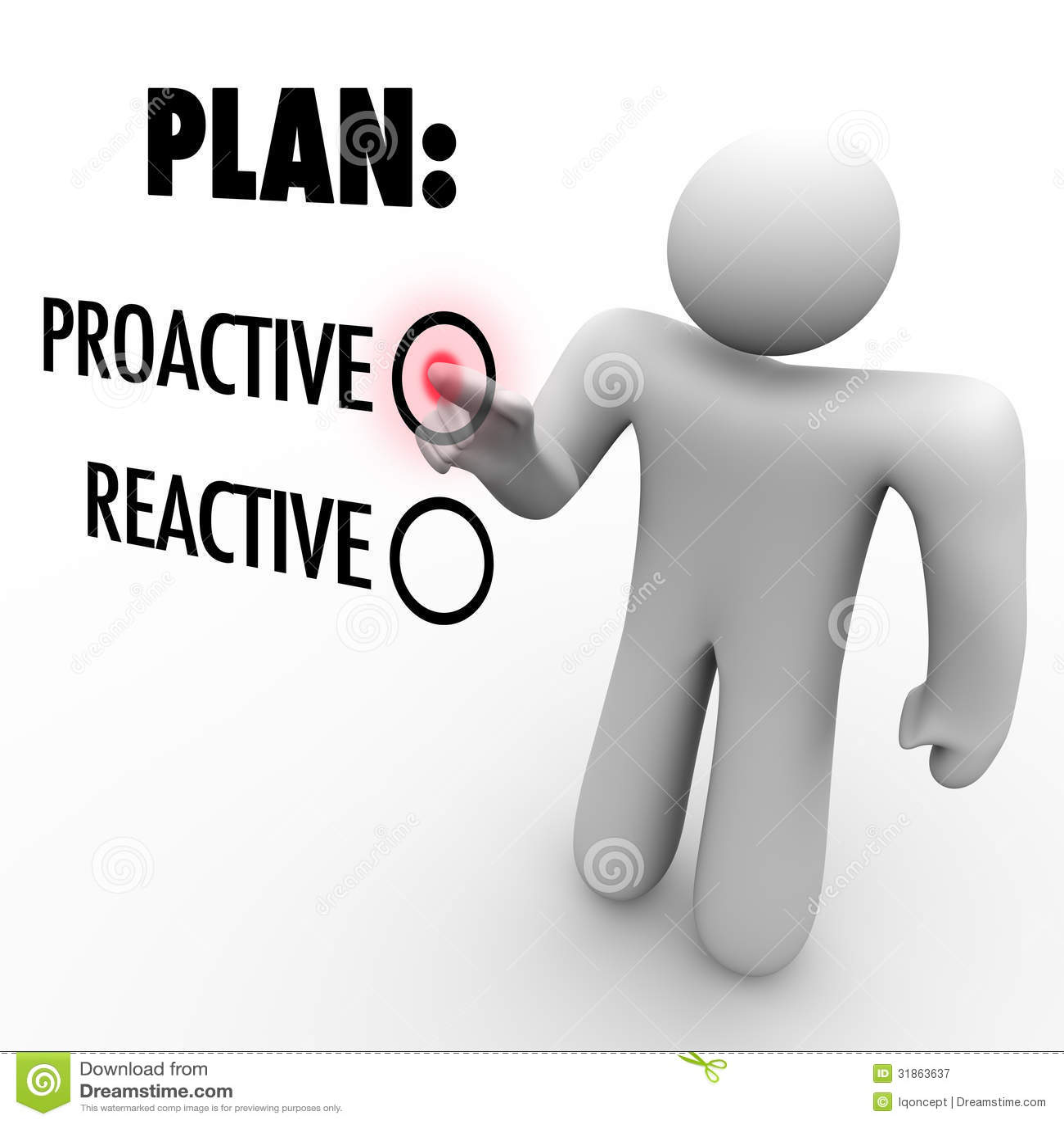 Instead Of Proactive Reactive