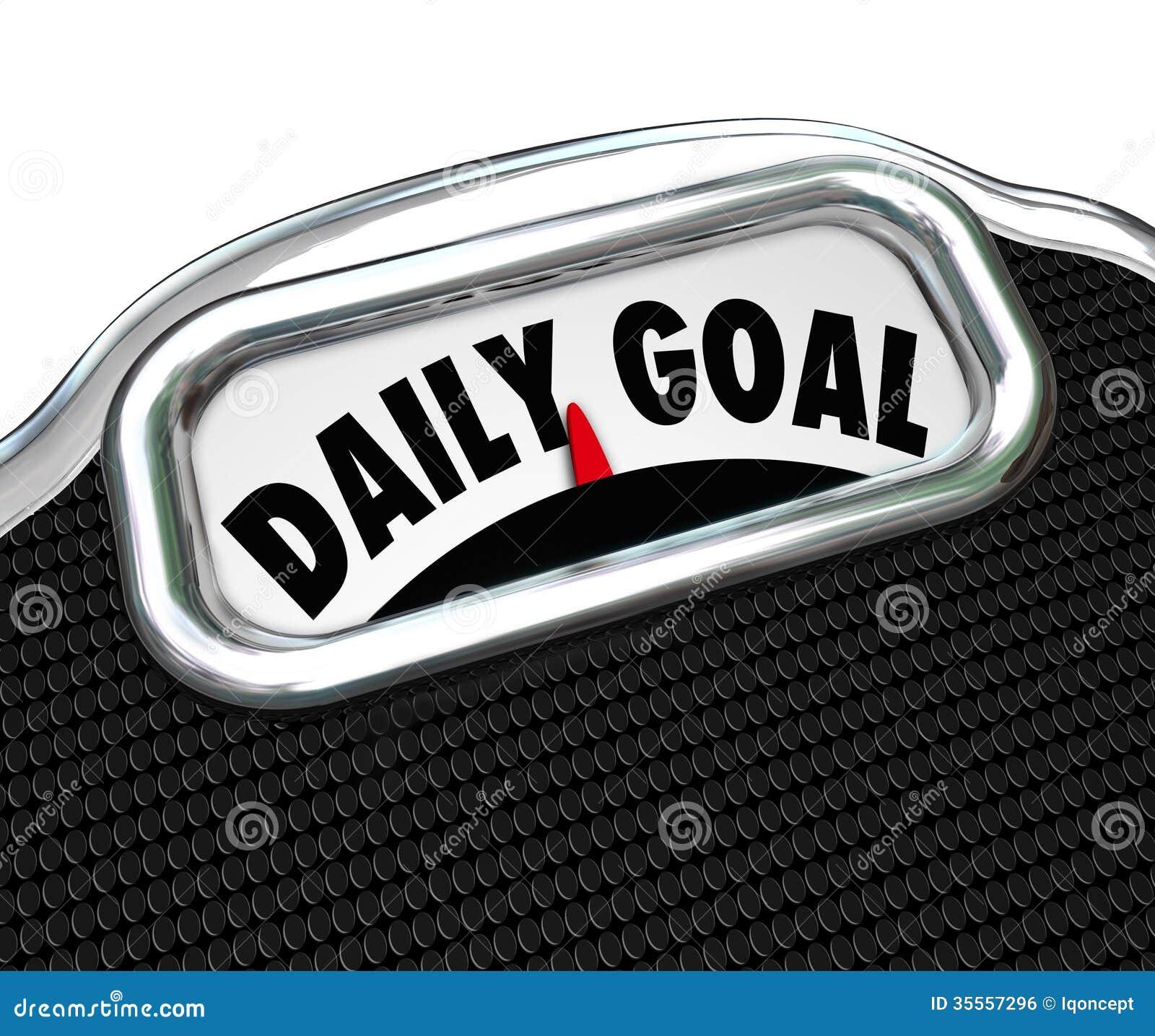 Plan quotidien de régime de perte de poids d échelle de but