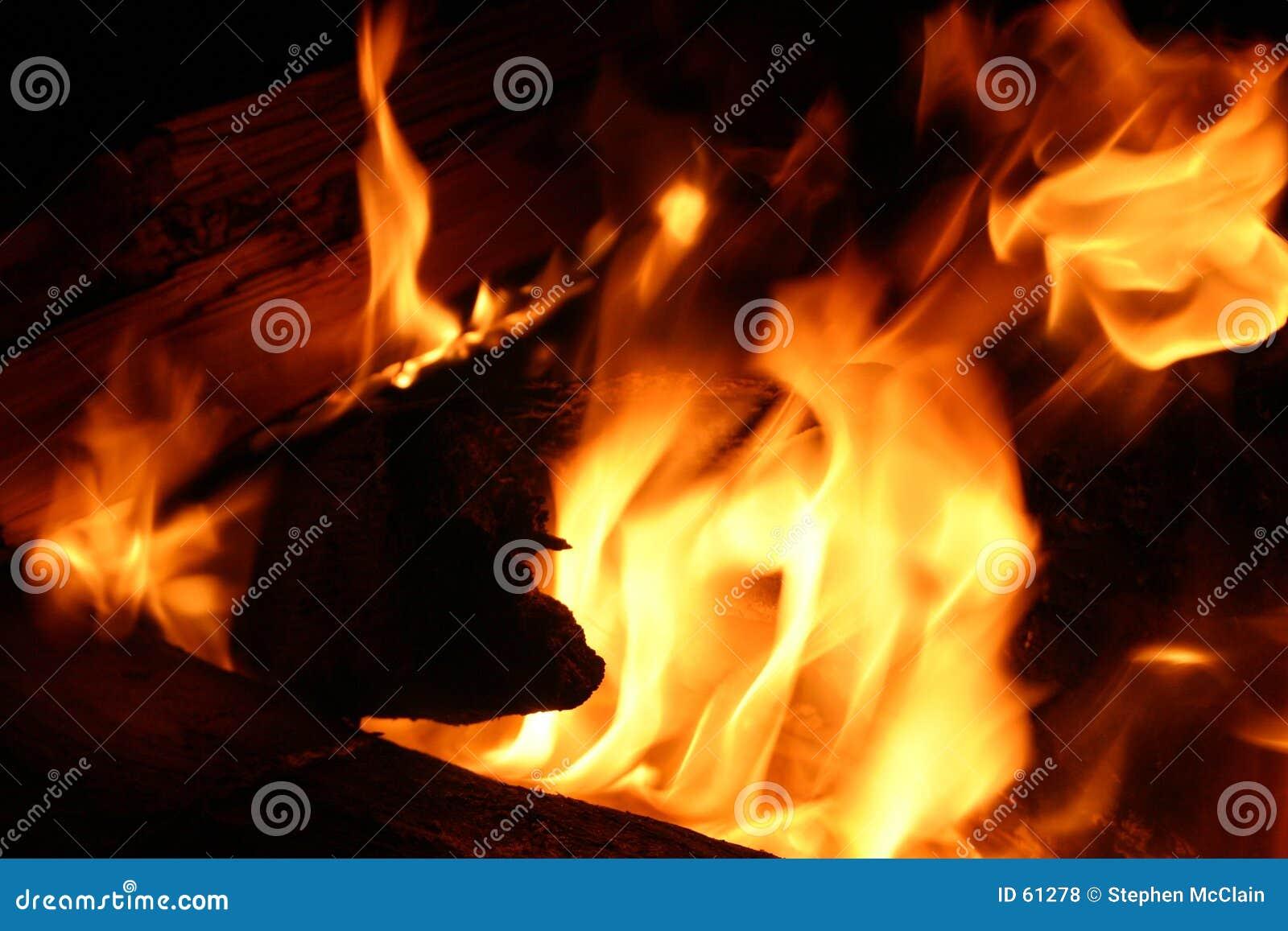 Download Plan rapproché d'incendie photo stock. Image du danger, oxygène - 61278