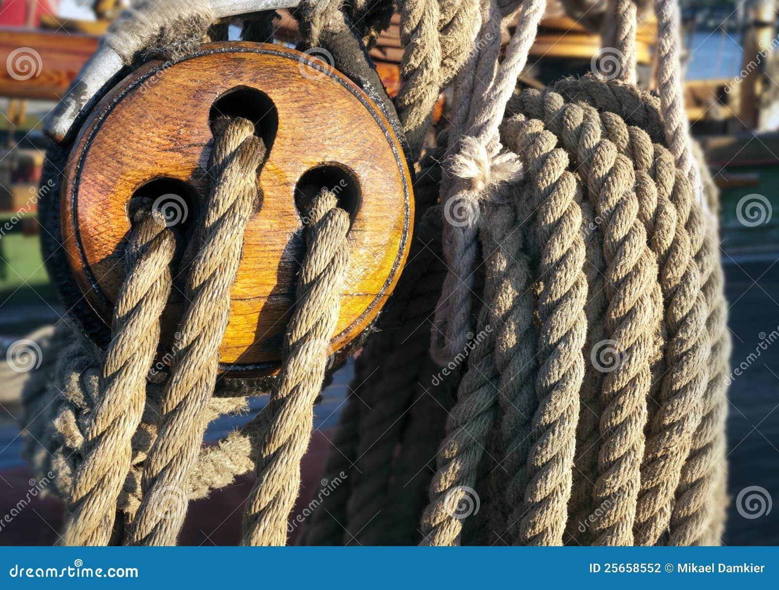 Plan rapproché d une corde d attachement