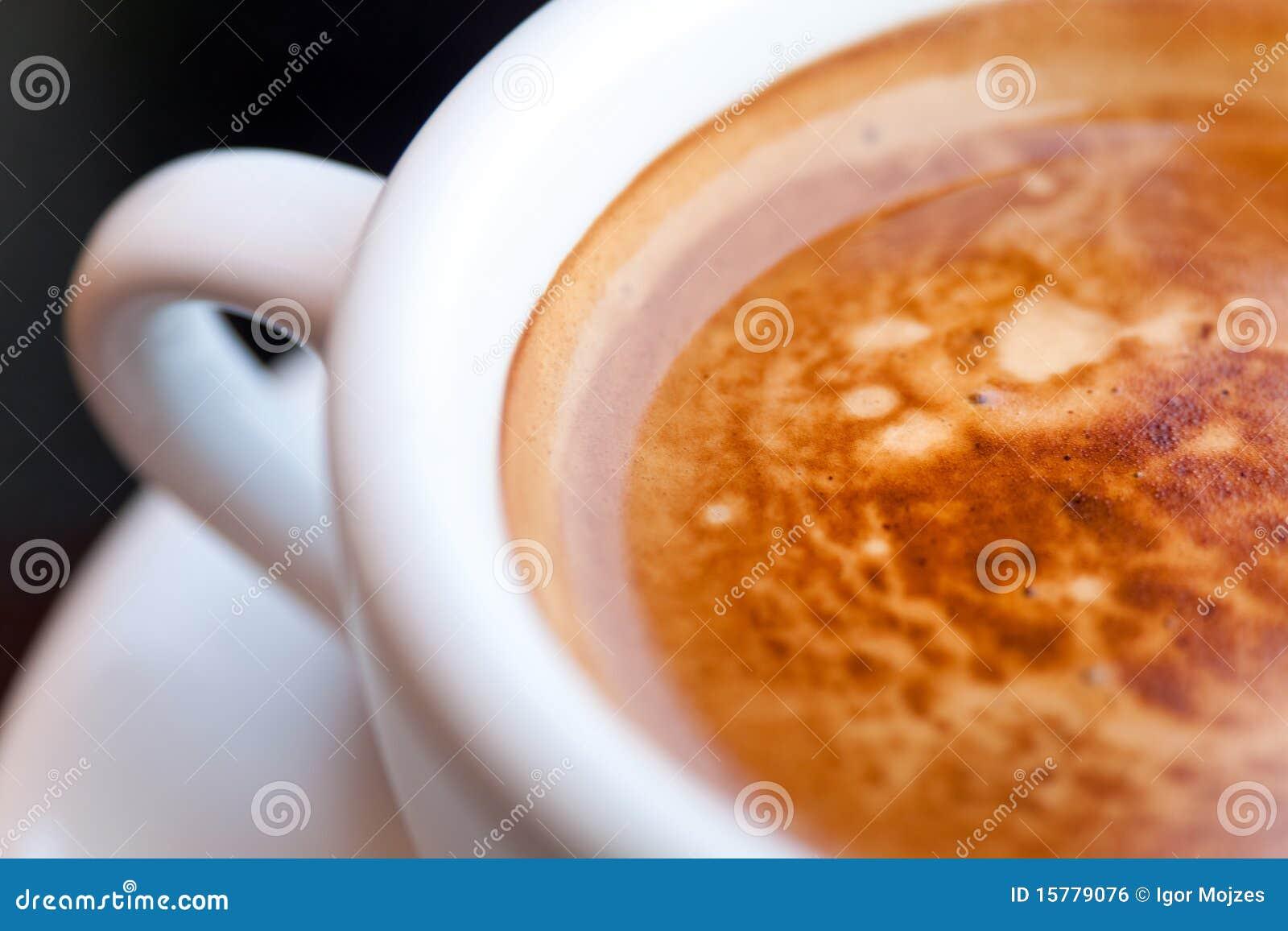 Plan rapproché d une cuvette de café