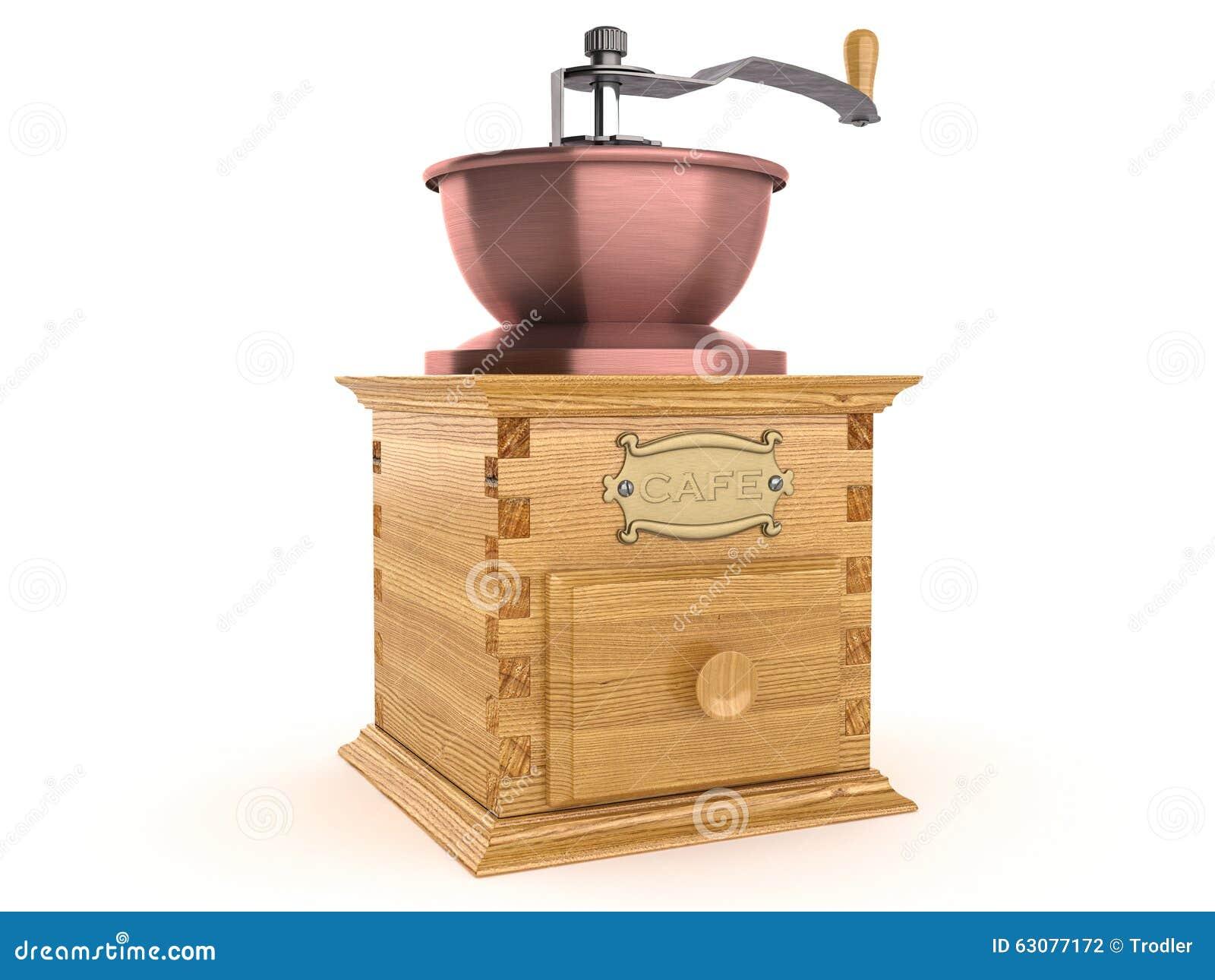 Download Plan Rapproché D'une Rectifieuse De Café Démodée Illustration Stock - Illustration du traitement, produit: 63077172