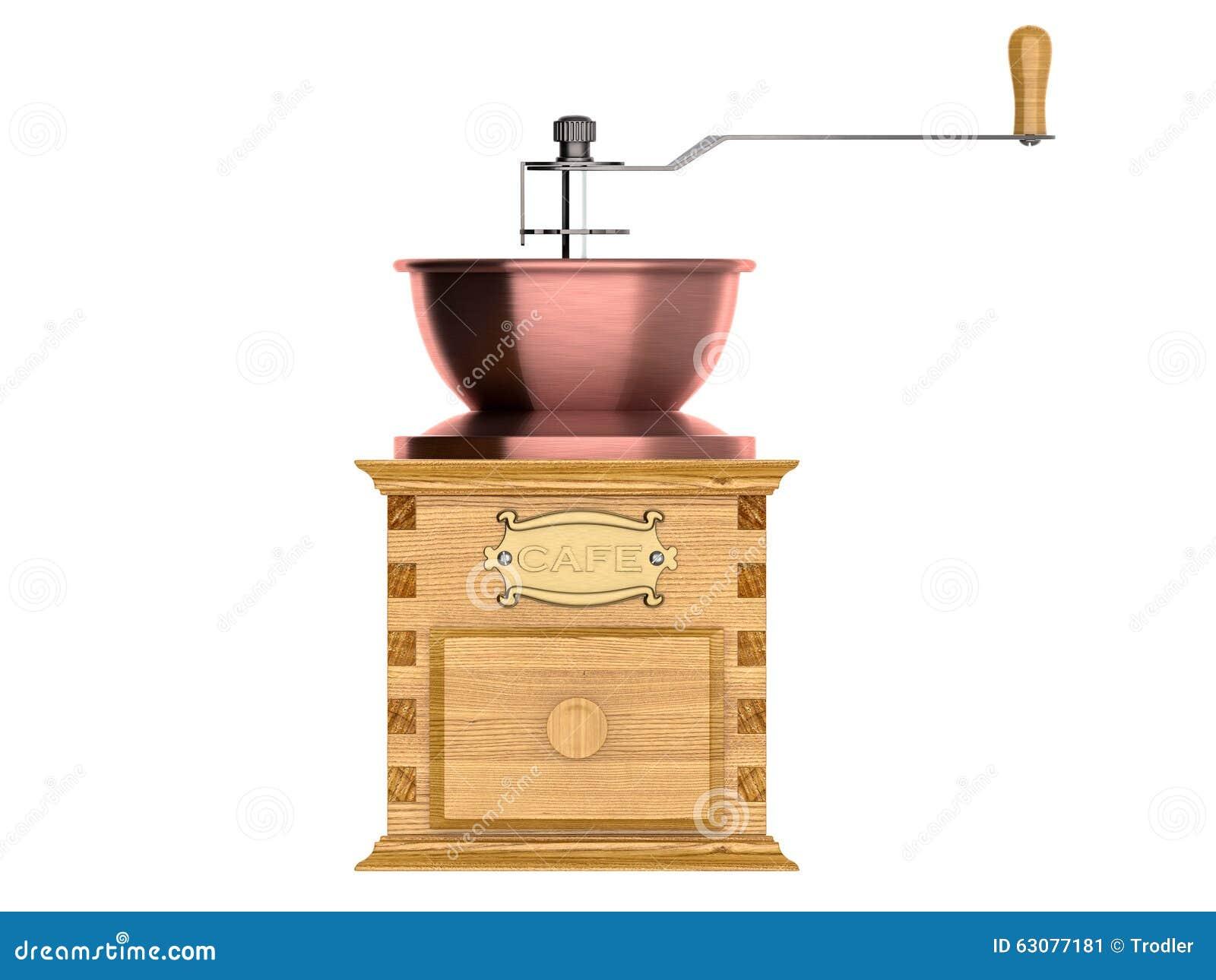Download Plan Rapproché D'une Rectifieuse De Café Démodée Illustration Stock - Illustration du gravé, ménage: 63077181