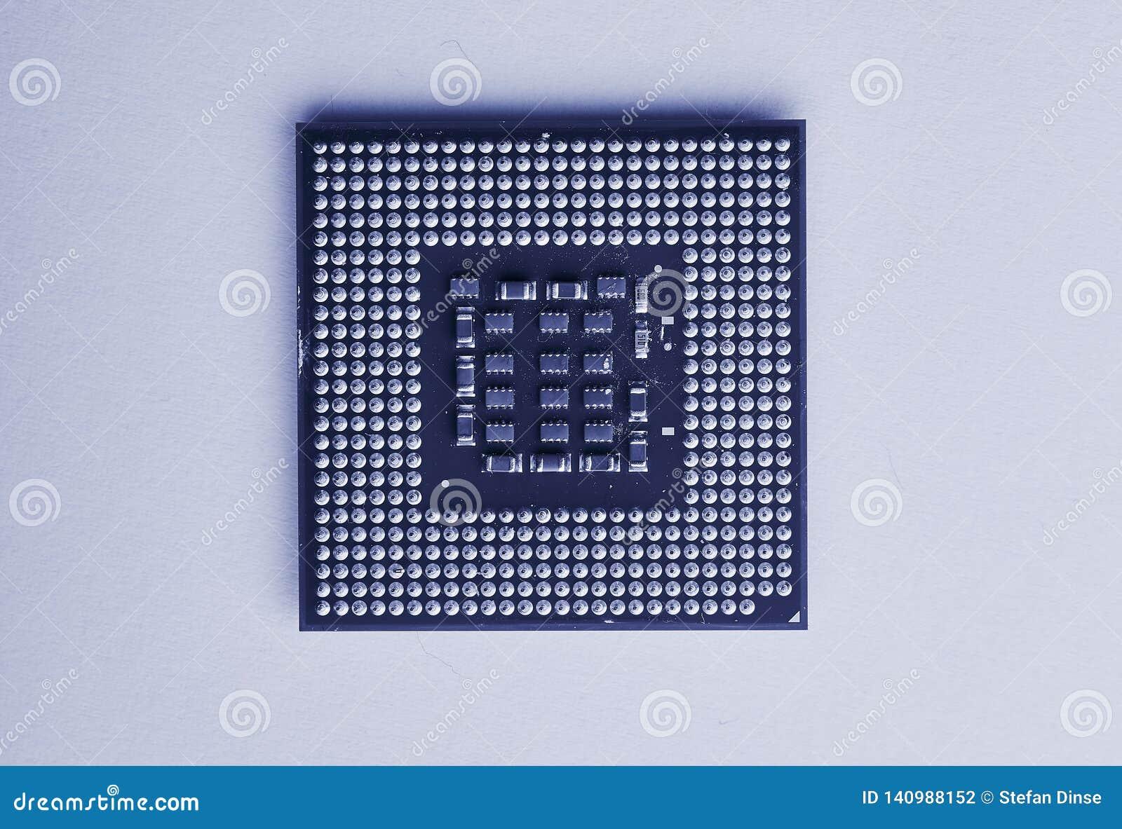 Plan rapproché d unité centrale de traitement pour le PC et l ordinateur portable