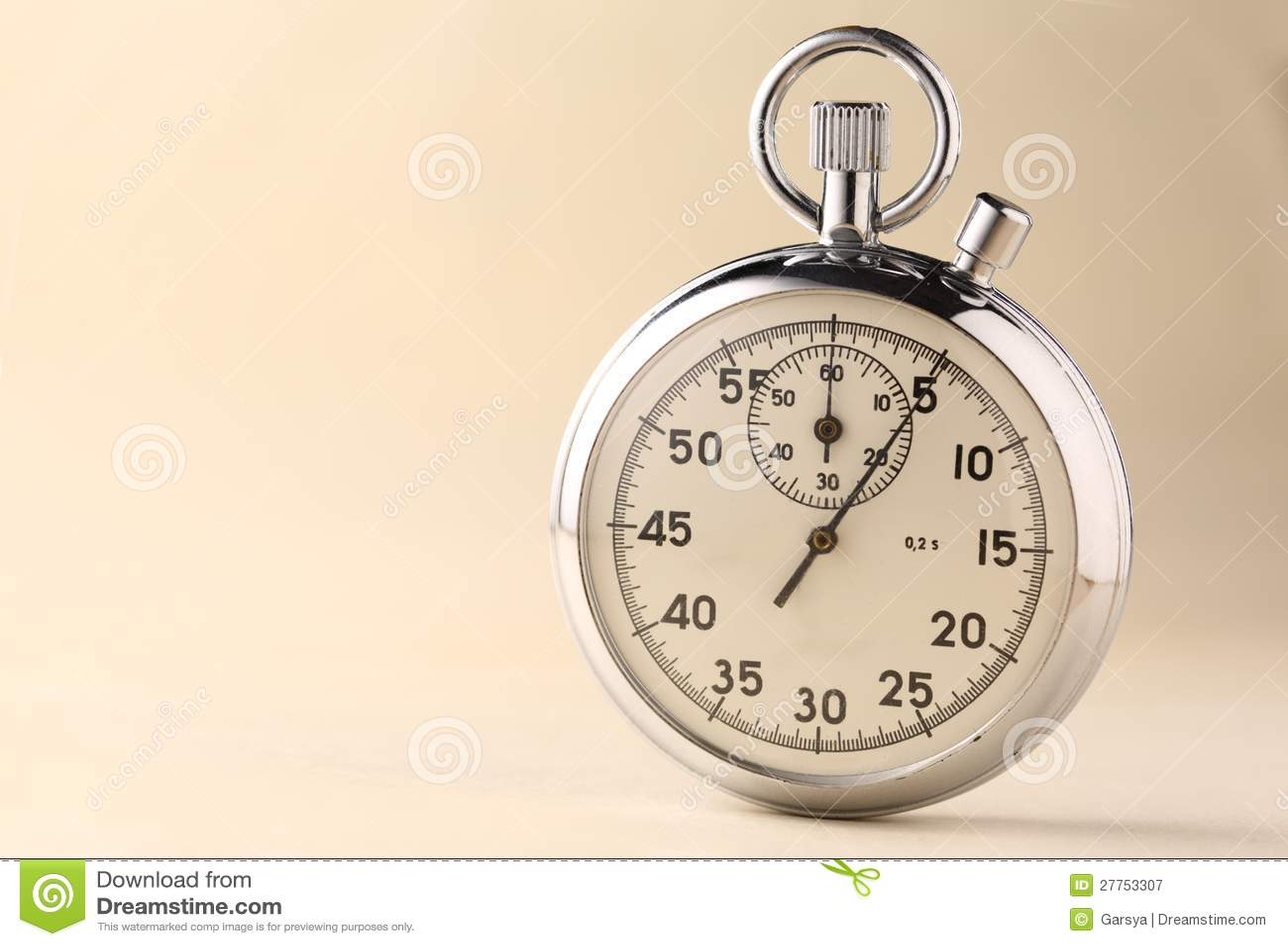 Plan rapproché de chronomètre