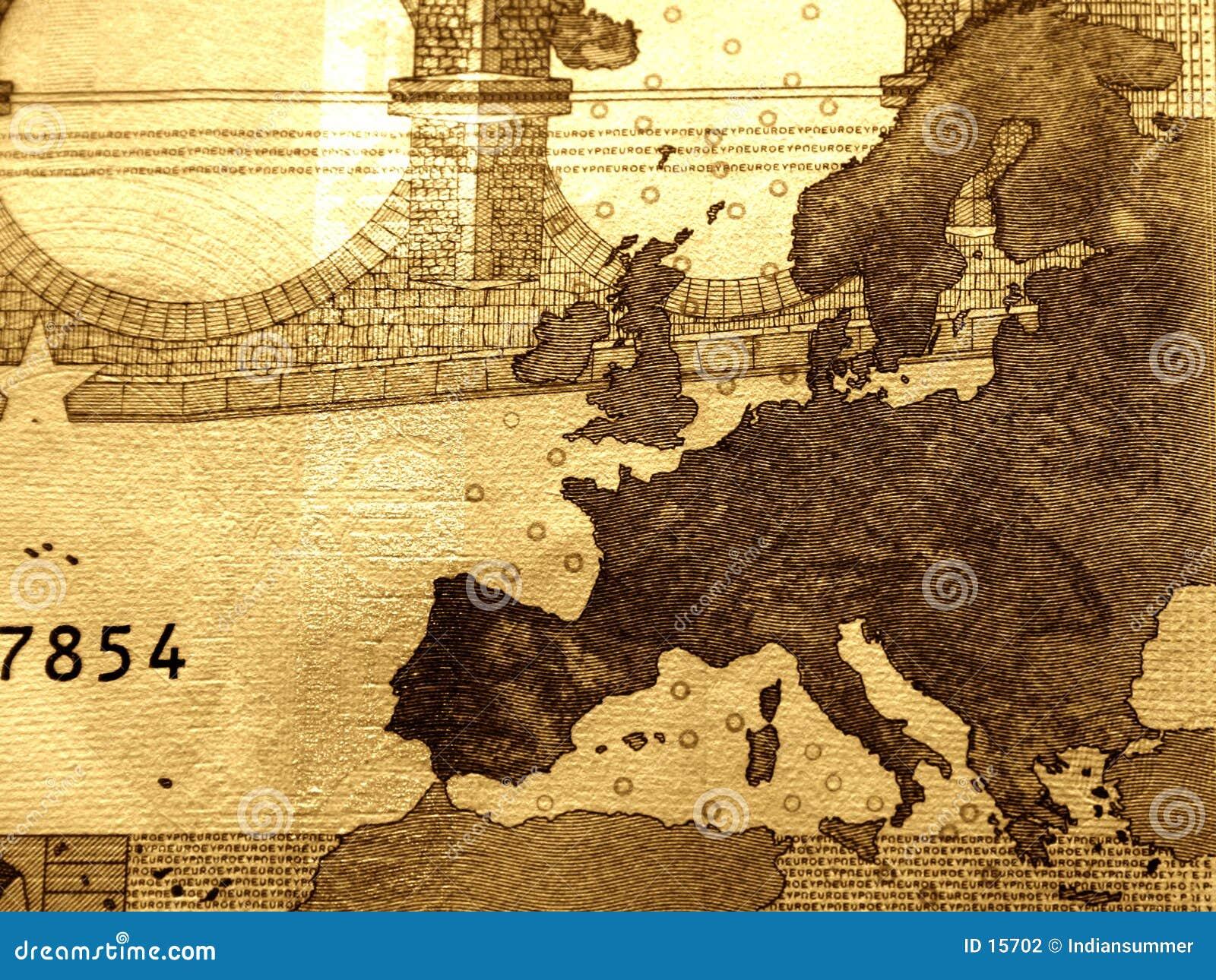 Plan rapproché de facture de 10 euro, détaillé