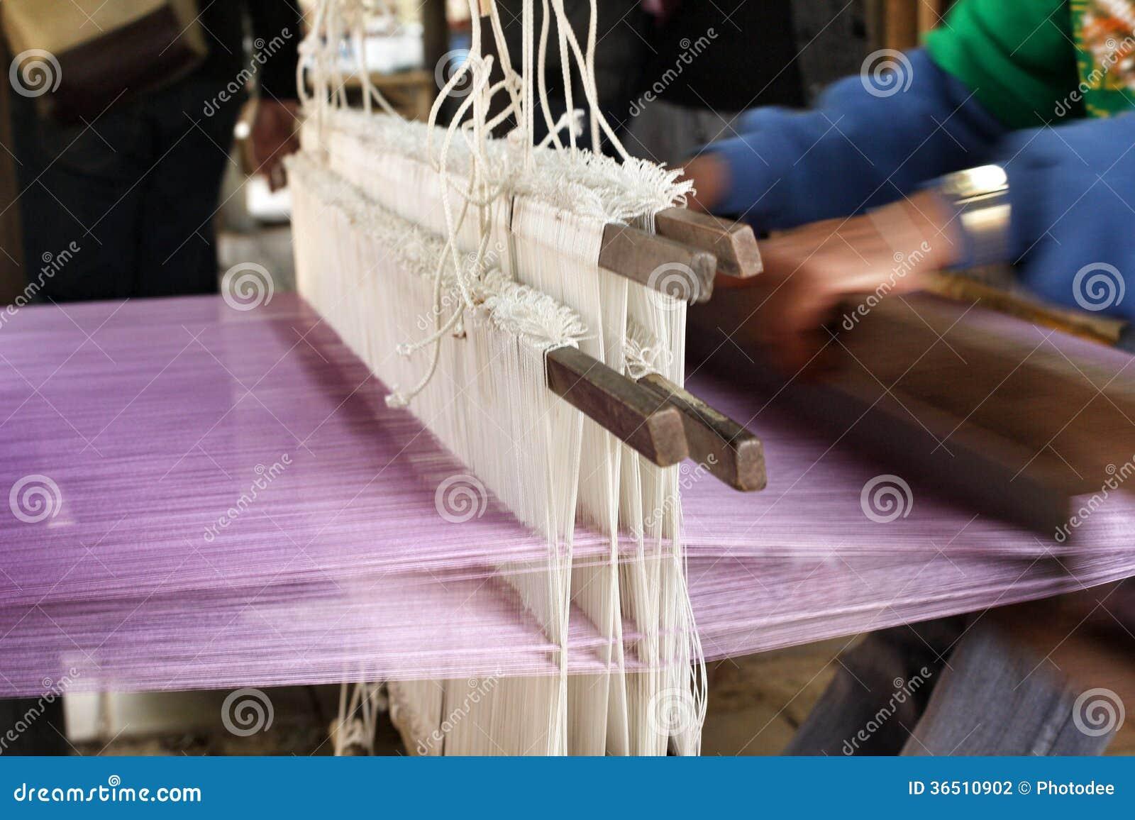 Plan rapproché de fil de tissage