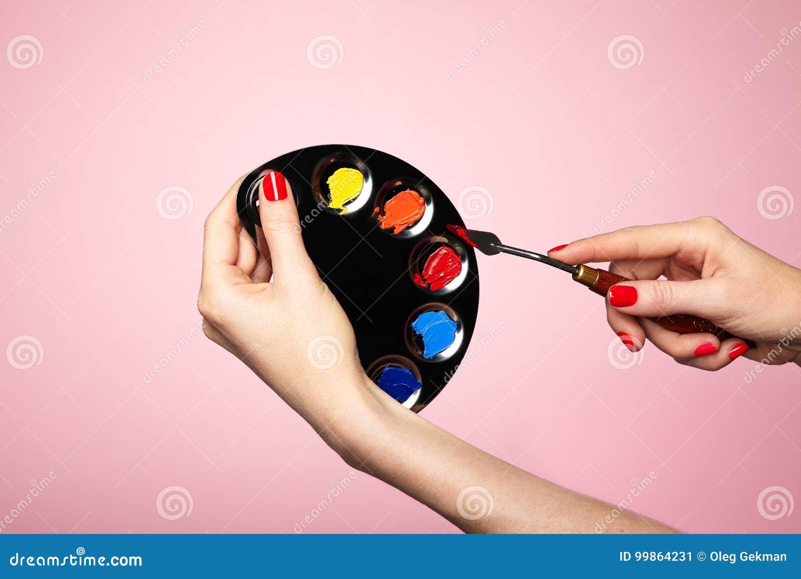 Plan rapproché de palette du ` s d artiste