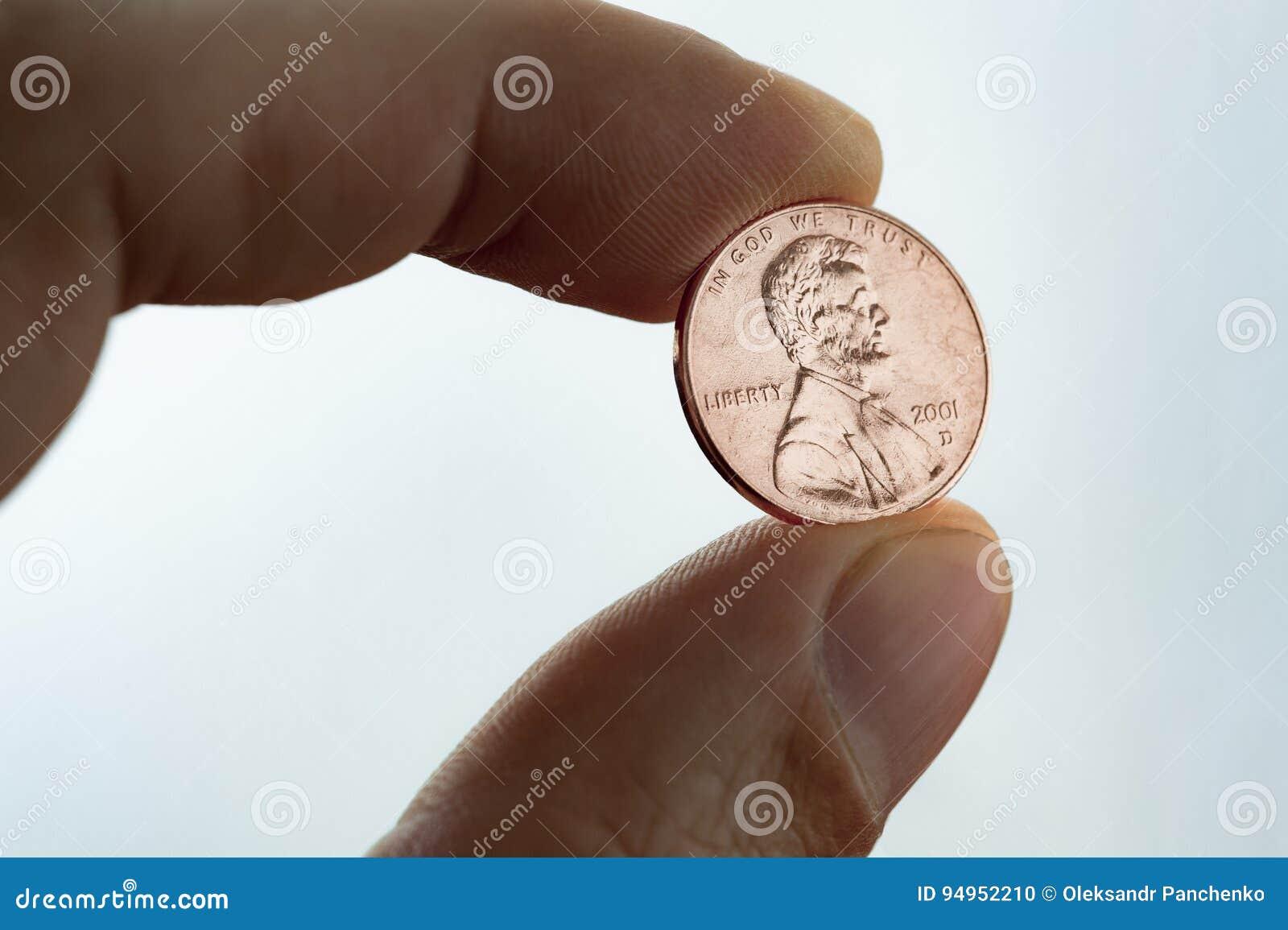 Plan rapproché de penny des USA