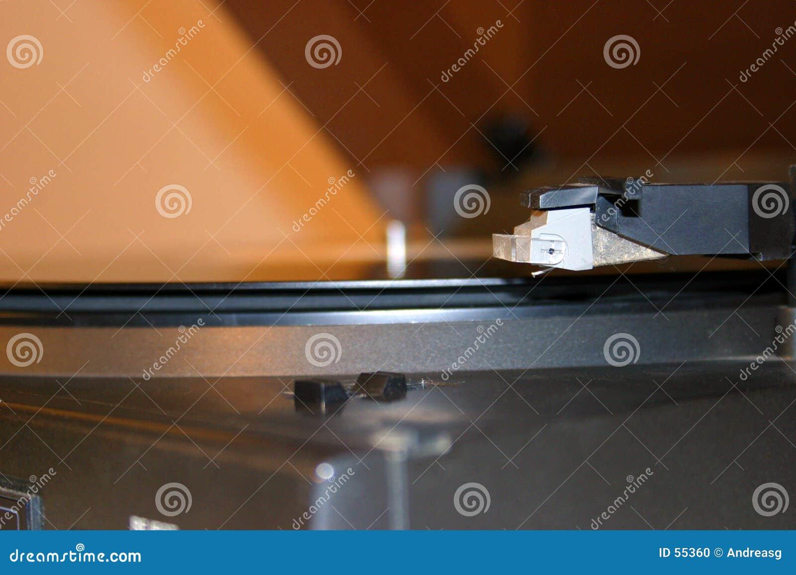 Plan rapproché de phonographe