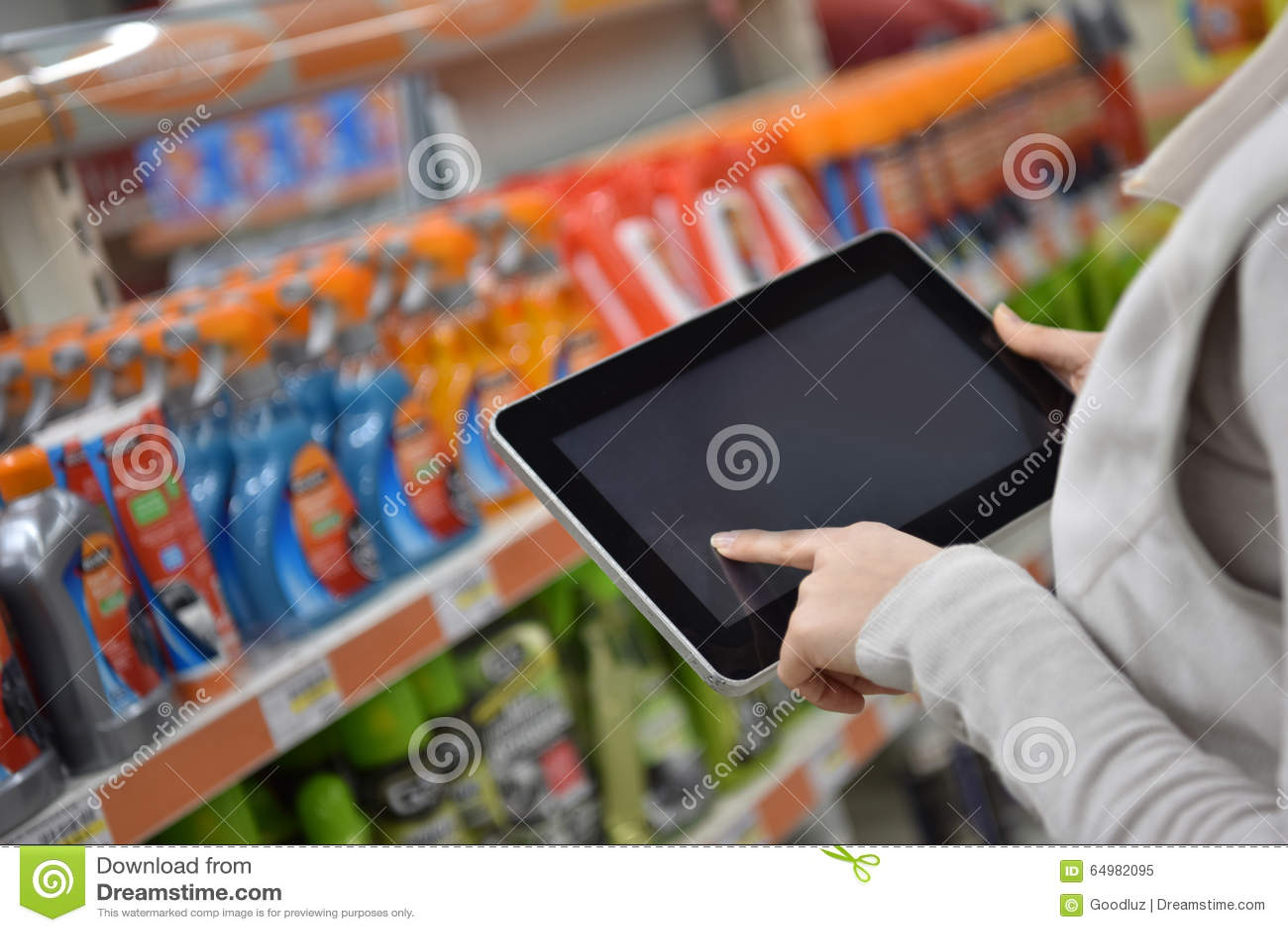 Plan rapproché de tablette