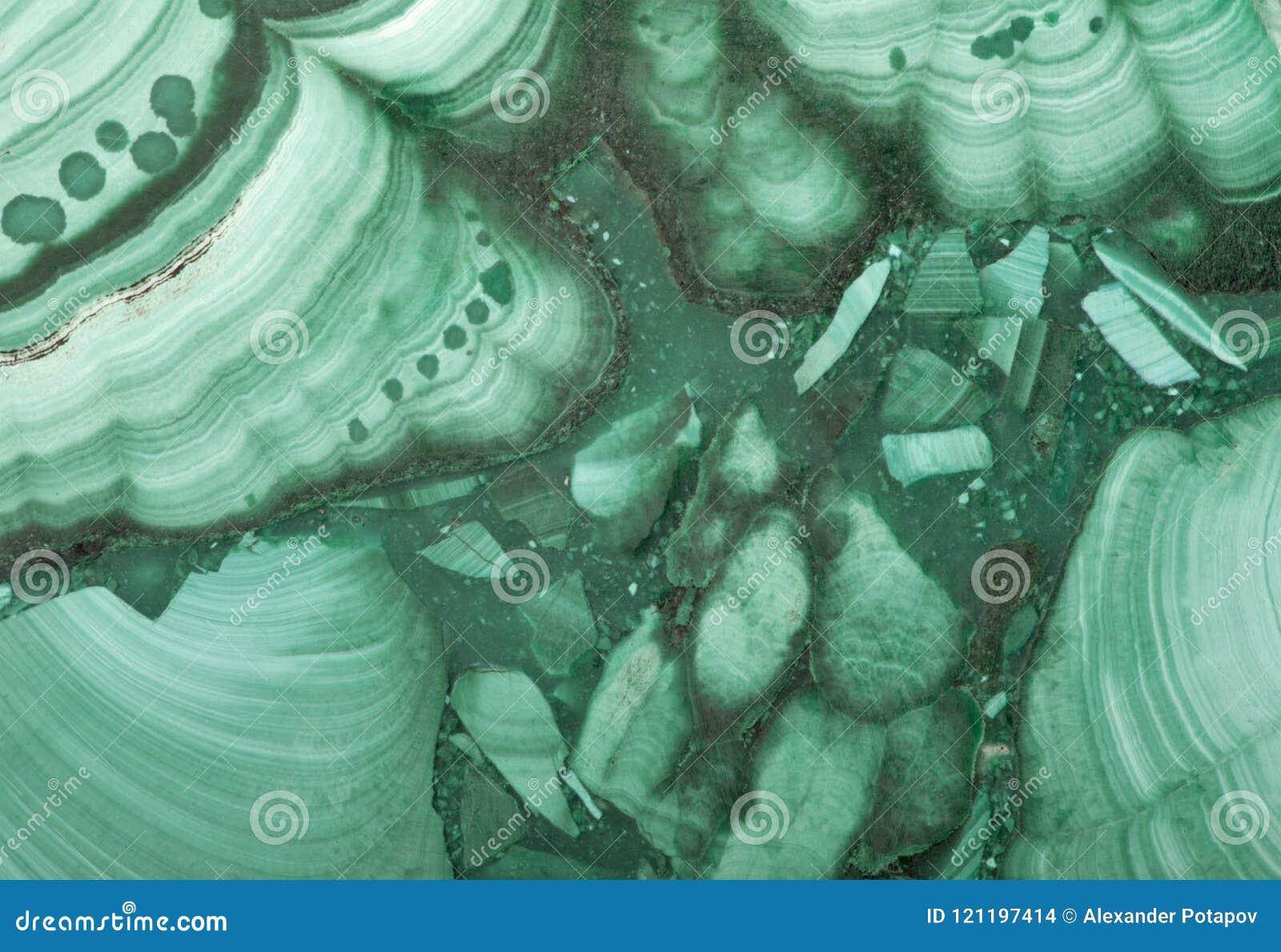 Plan rapproché de texture verte de malachite