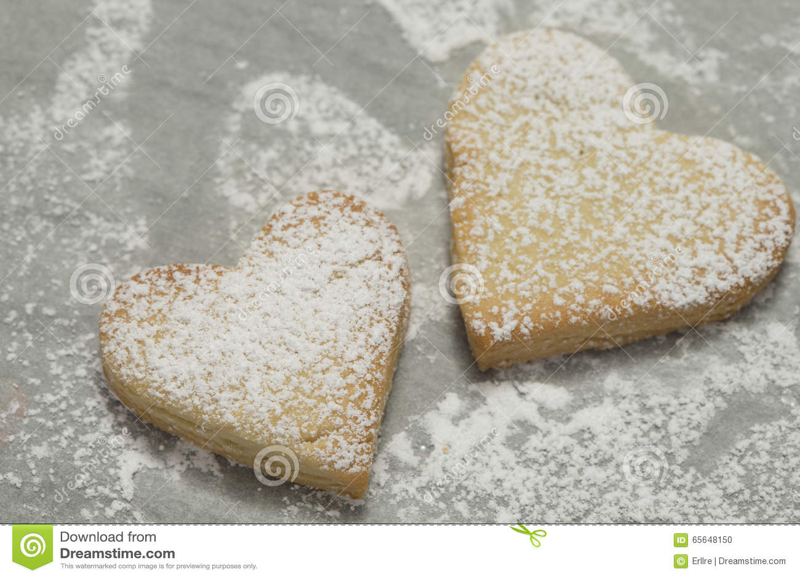 Plan rapproché des biscuits cuits au four