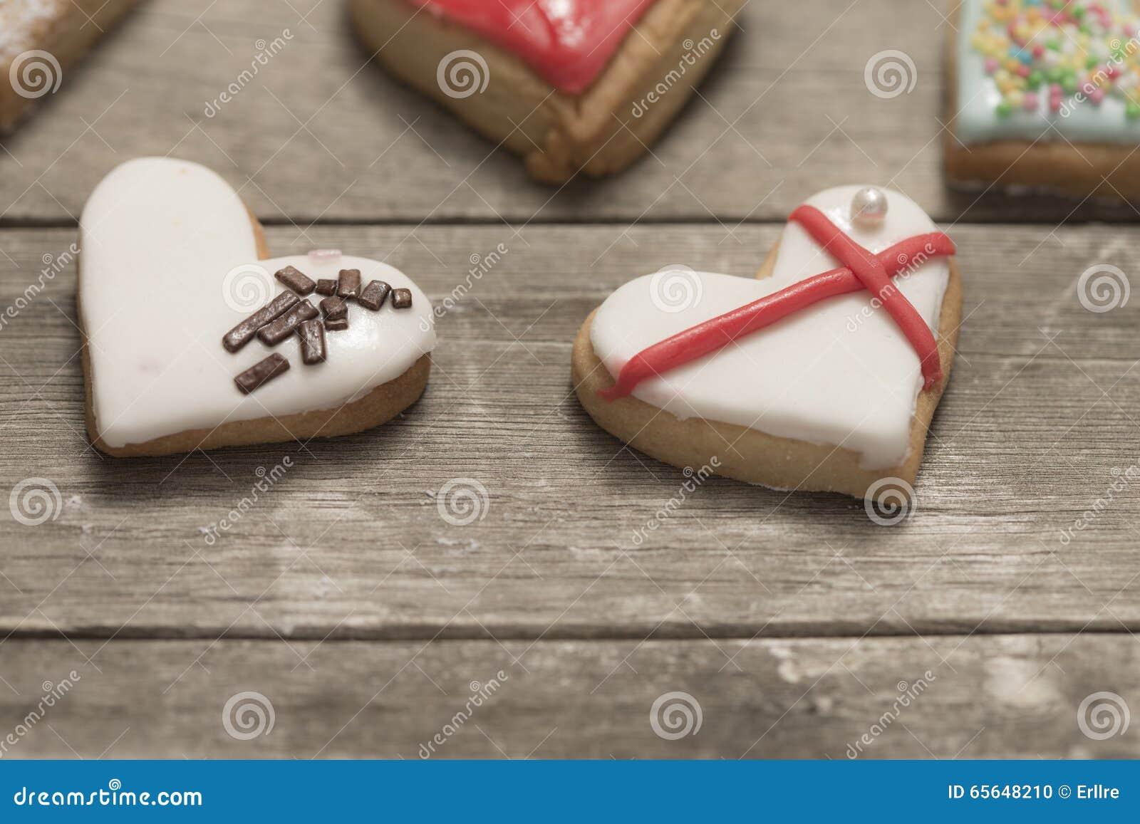 Plan rapproché des biscuits cuits au four délicieux