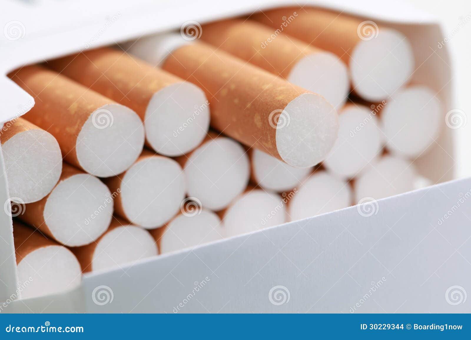 Cigarettes dans un paquet