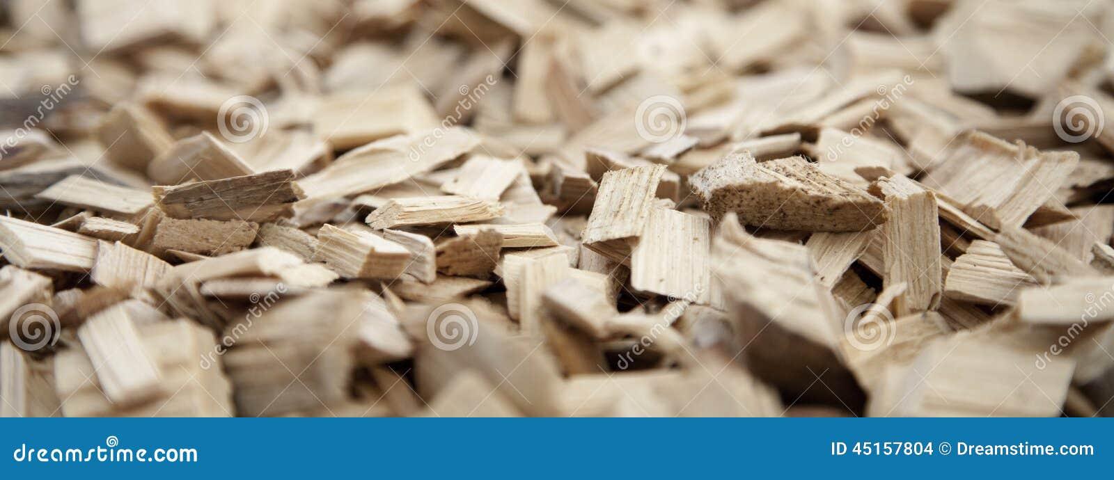 Plan rapproché des déchets de bois