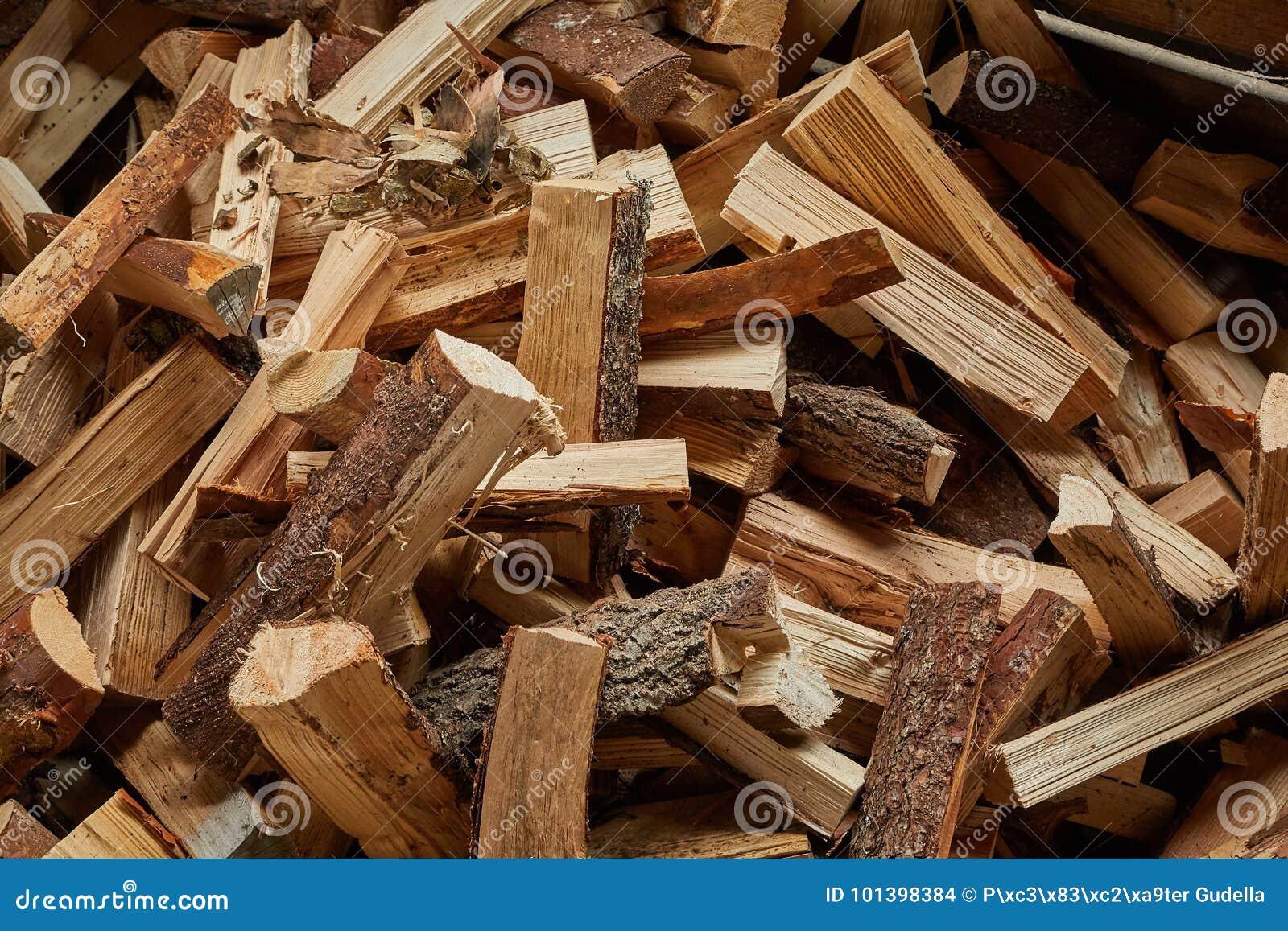 Plan rapproché en bois de pile