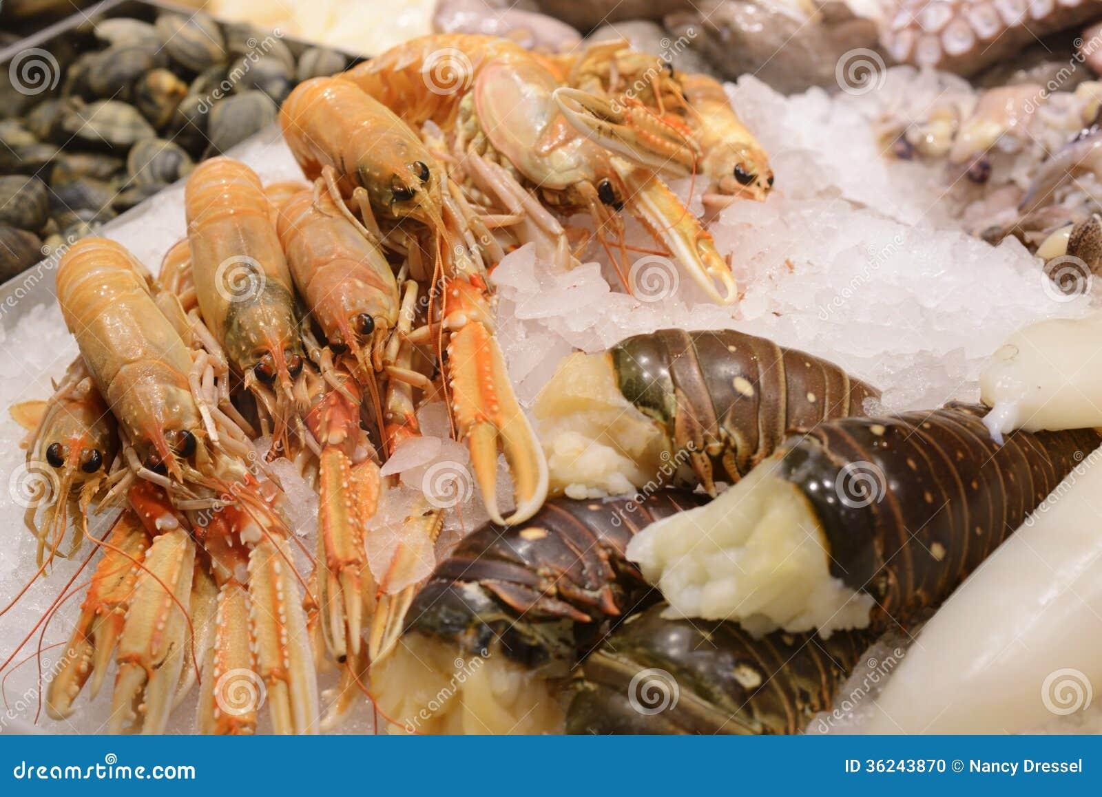 Plan rapproché frais de homard