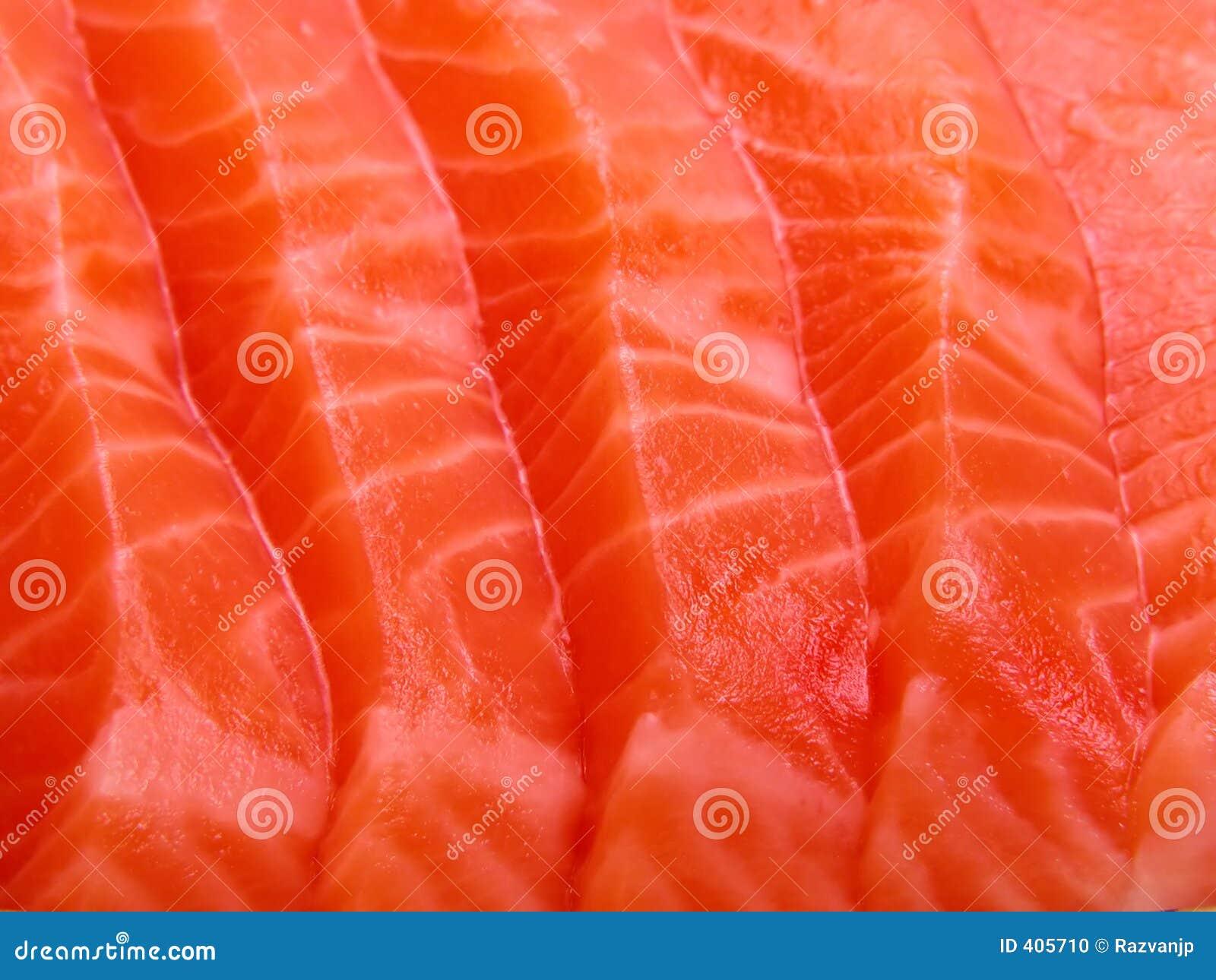Plan rapproché saumoné de viande