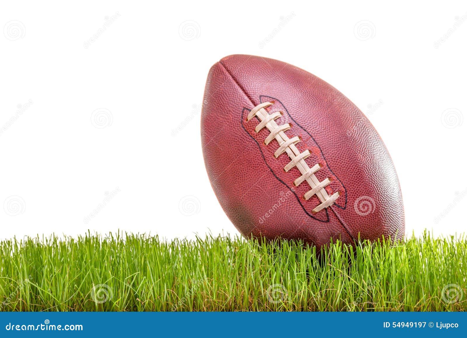 Plan rapproché sur un football américain