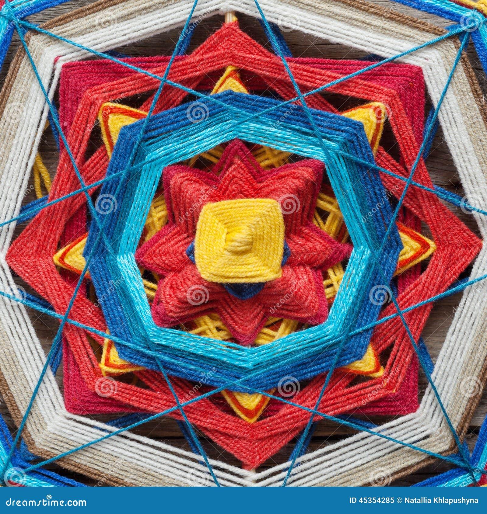Plan rapproché tricoté de mandala
