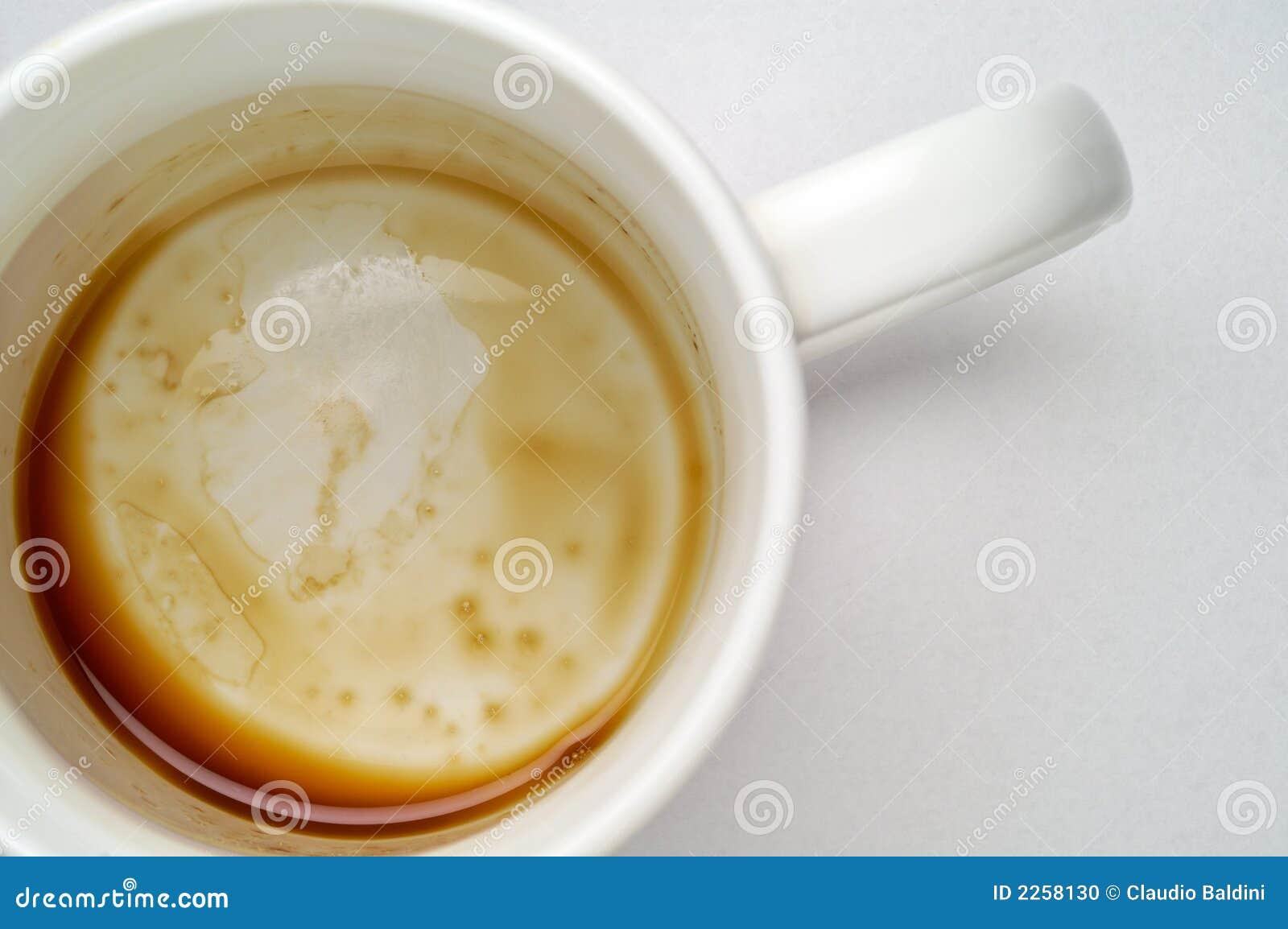 Plan rapproché vide de cuvette de café