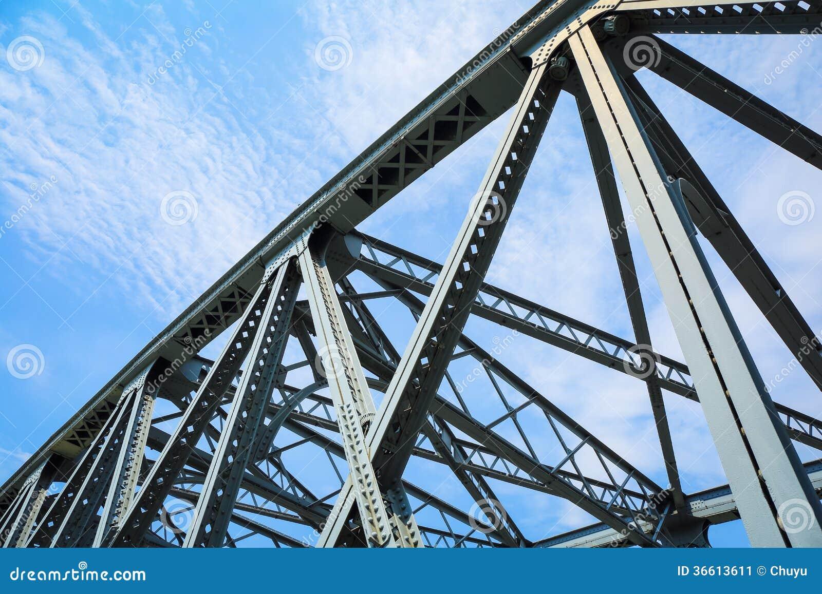 Plan rapproch de pont en structure m tallique image stock for Structure metallique architecture