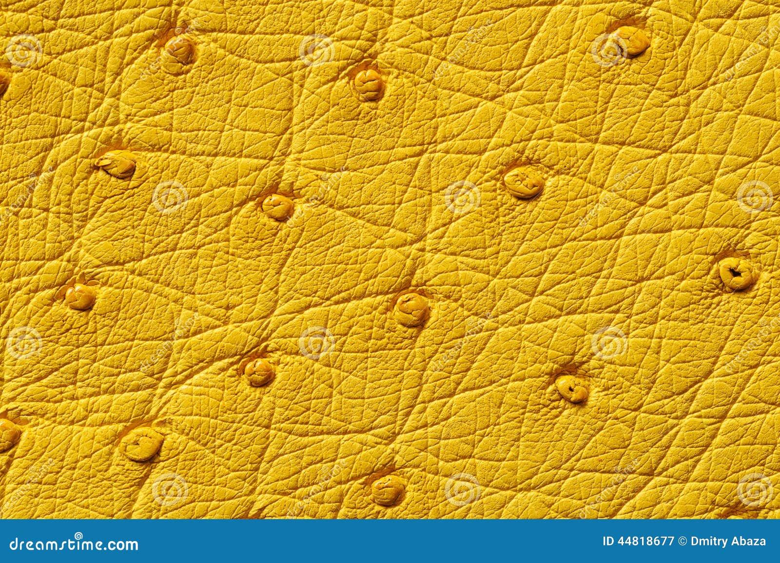 Plan Rapproch De Texture En Cuir Jaune Sans Couture Photo Stock Image 44818677