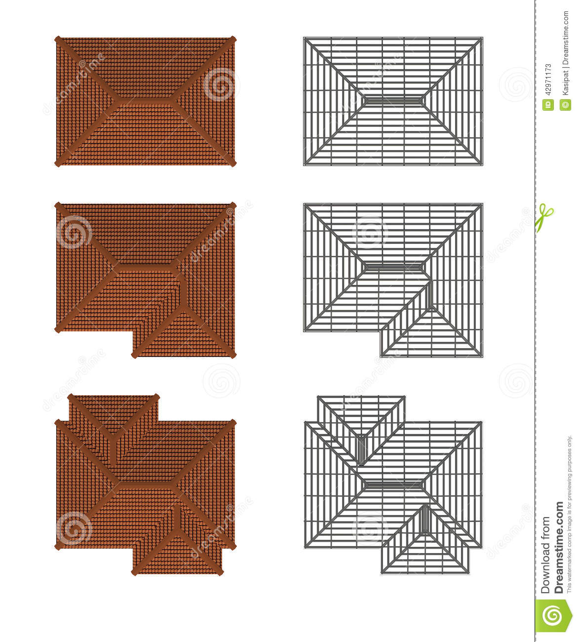 Royalty Free Illustration. Download Plan Roof ...