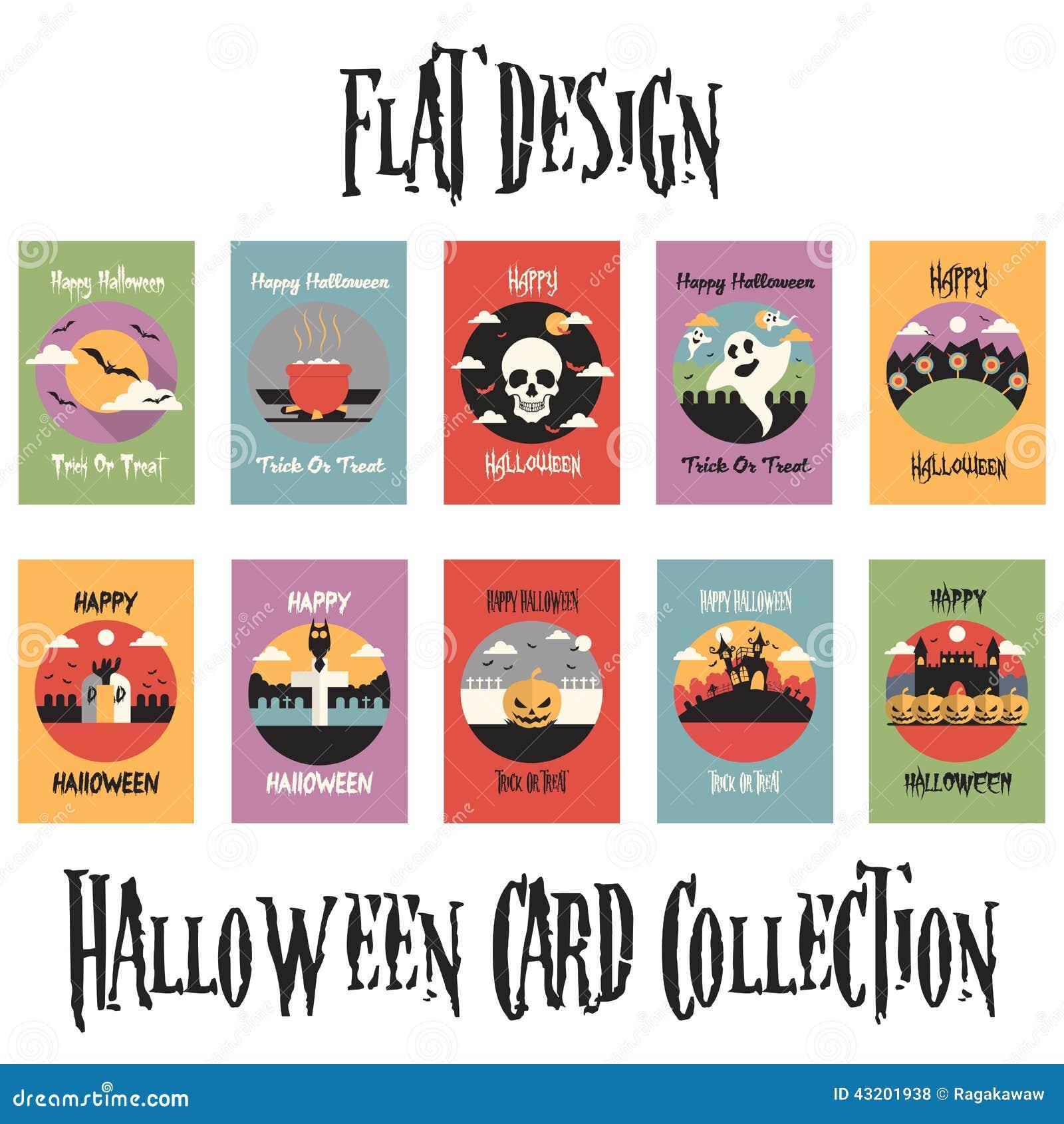 Download Plan Samling För Designallhelgonaaftonkort Vektor Illustrationer - Illustration av plant, halloween: 43201938