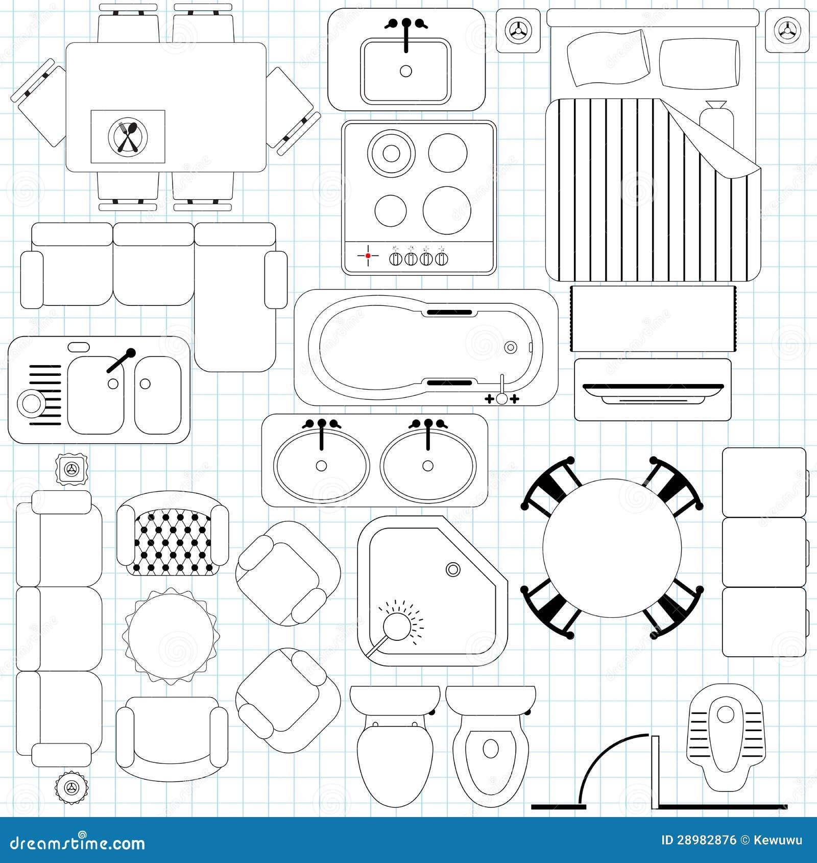 Plan simple de los muebles/de suelo