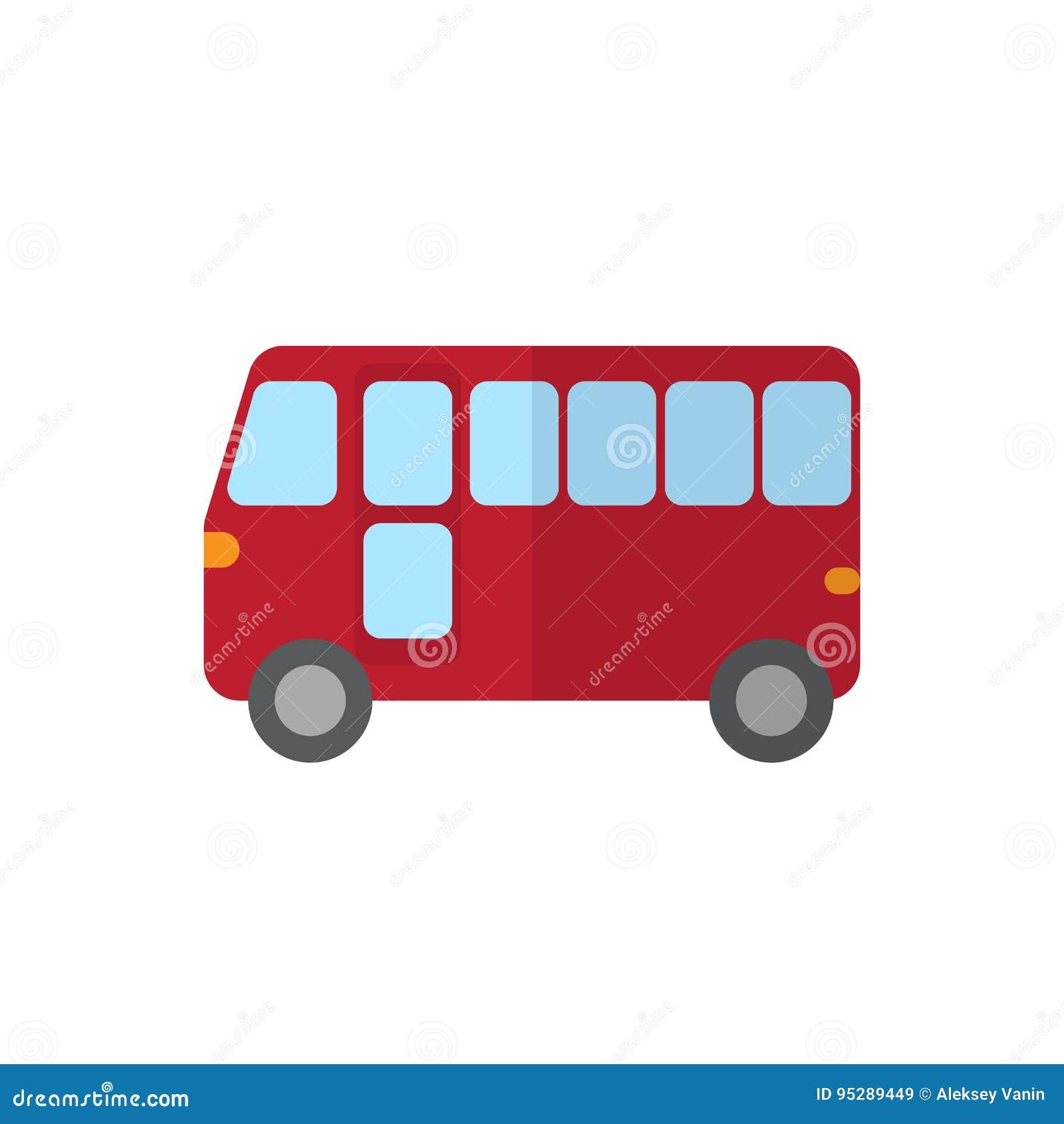 Plan symbol för buss, fyllt vektortecken, färgrik pictogram som isoleras på vit