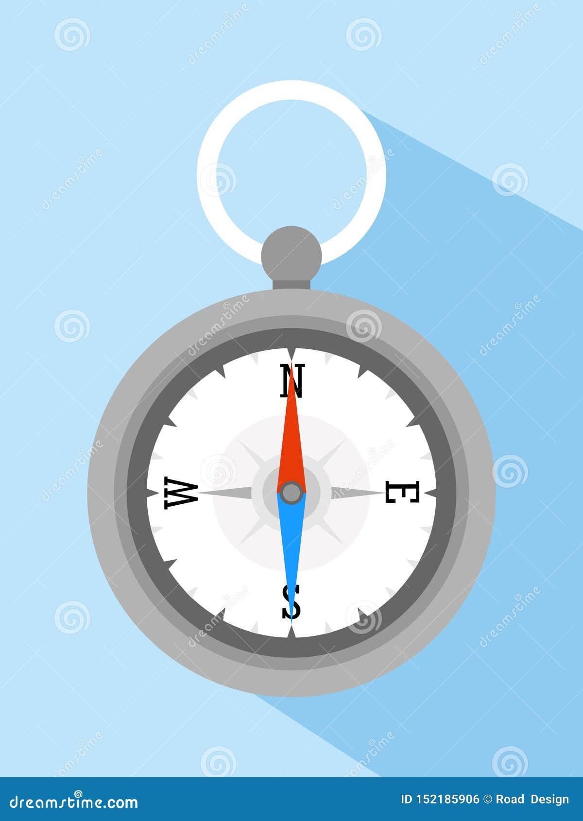 Plan symbol för kompassvektor för affärsföretag