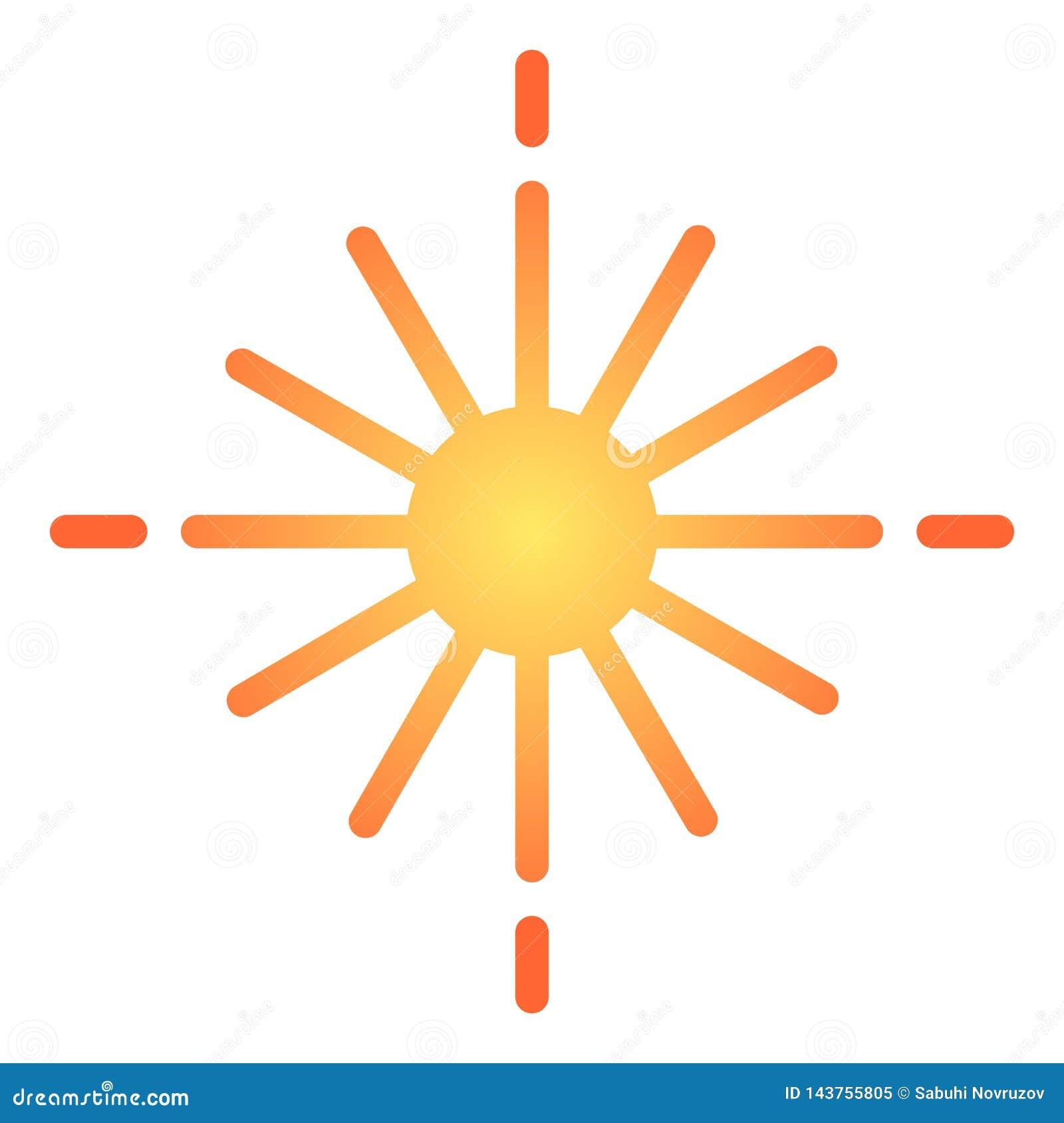 Plan symbol för stjärna Glödande symboler för stjärnafärg i moderiktig plan stil Ljus lutningstildesign som planläggs för rengöri