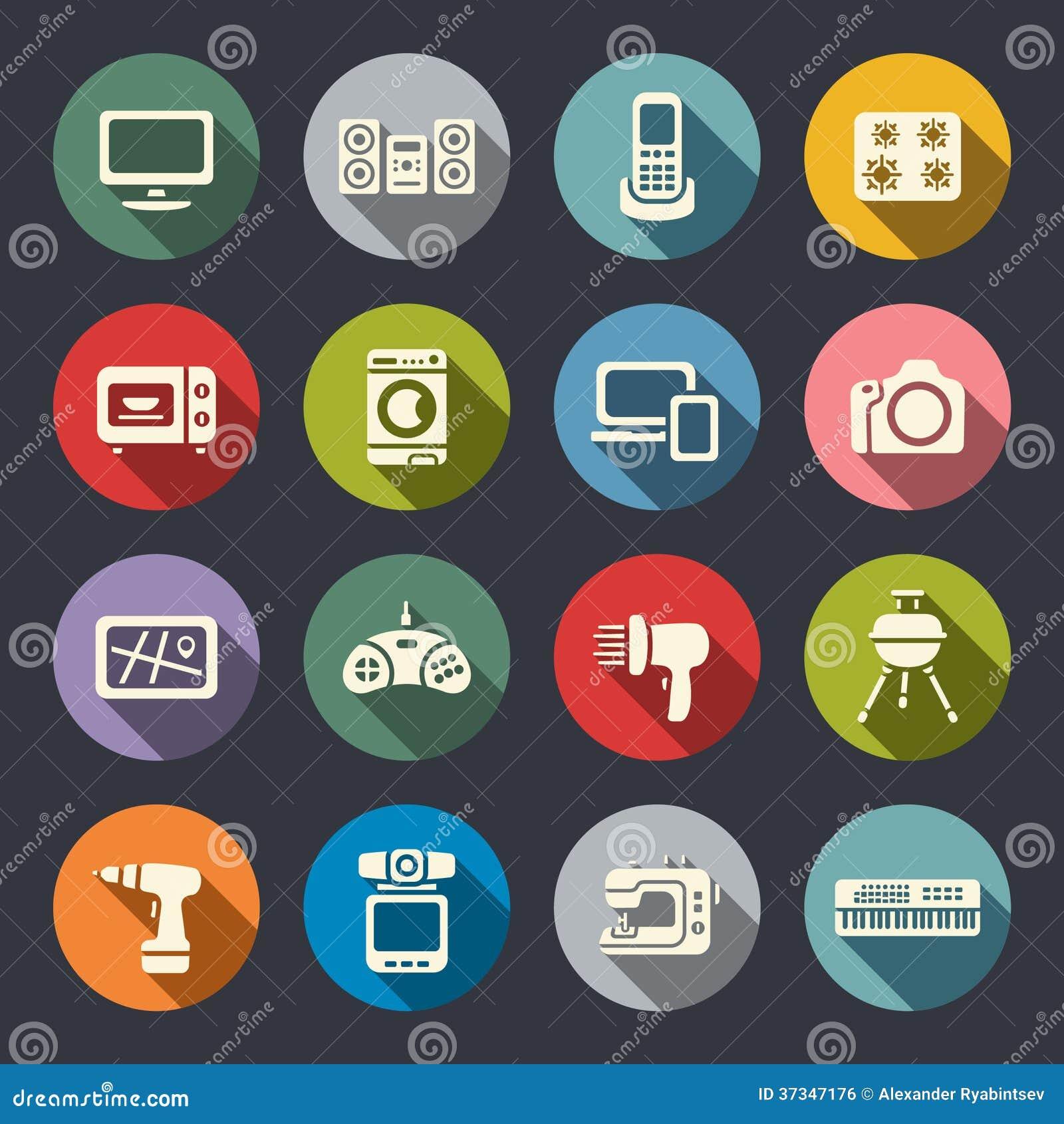 Plan symbolsuppsättning för elektronik