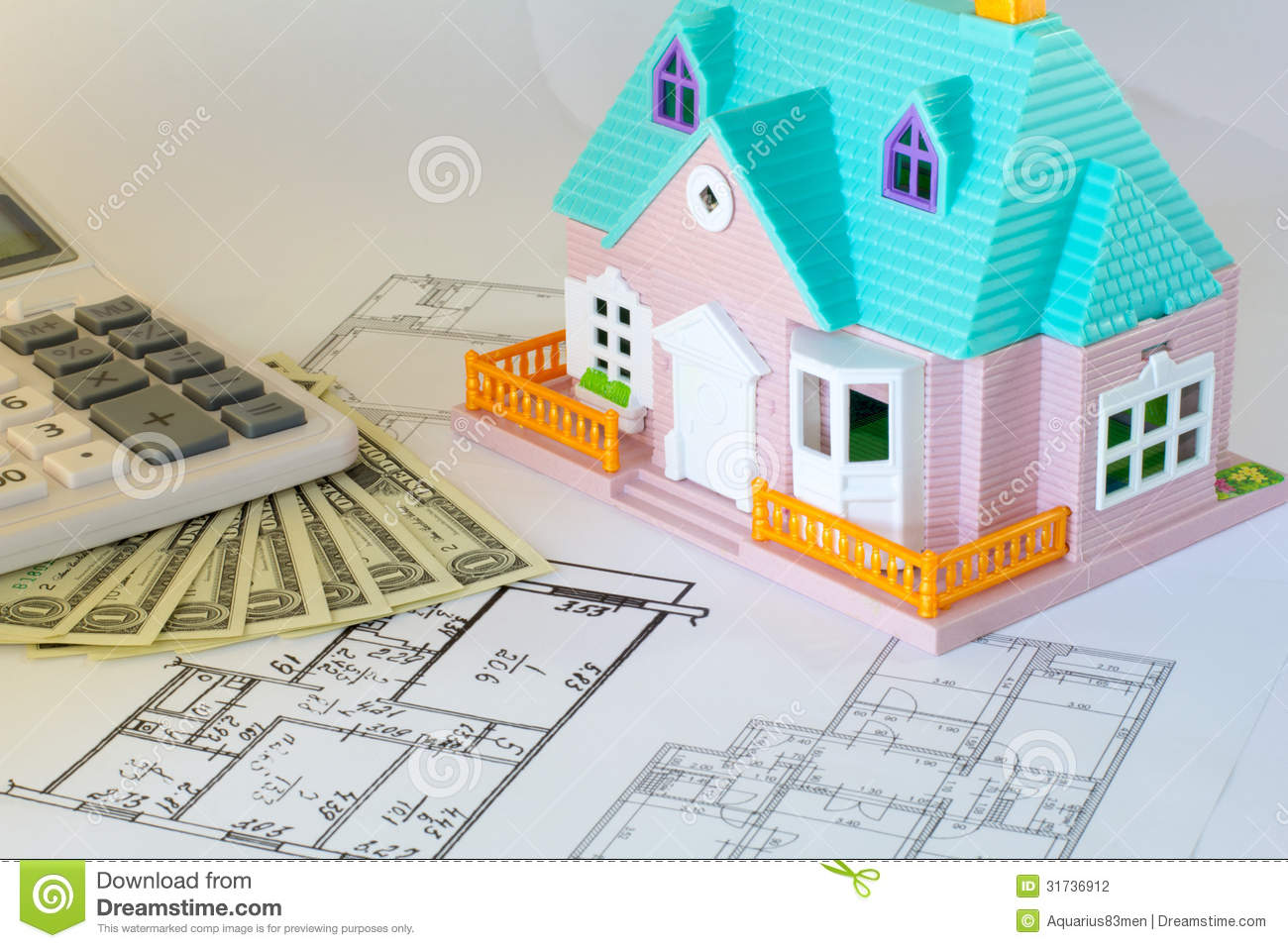 Plan to build a house stock photography image 31736912 for Build a house calculator free