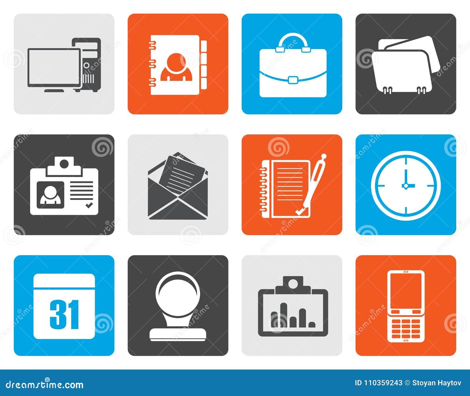 Plana symboler för rengöringsdukapplikationer, affärs- och kontors, universella symboler